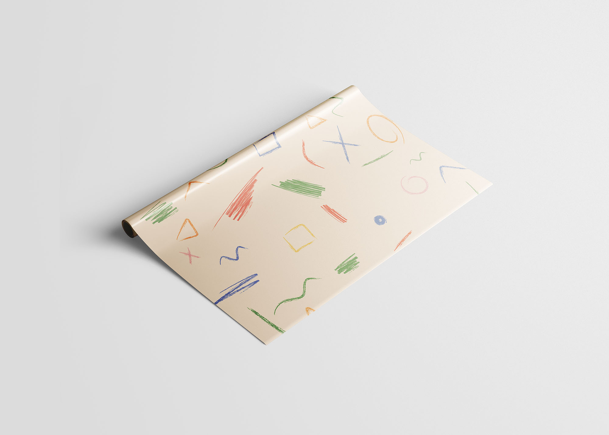 Wrapping Paper Mockup 2