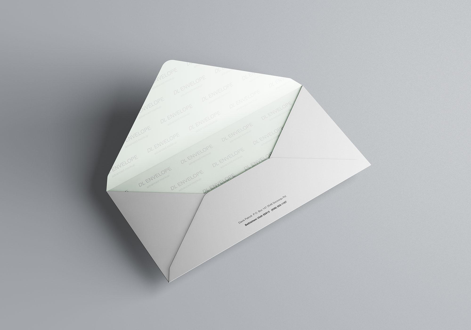 Baronial DL Envelope Mockup 3