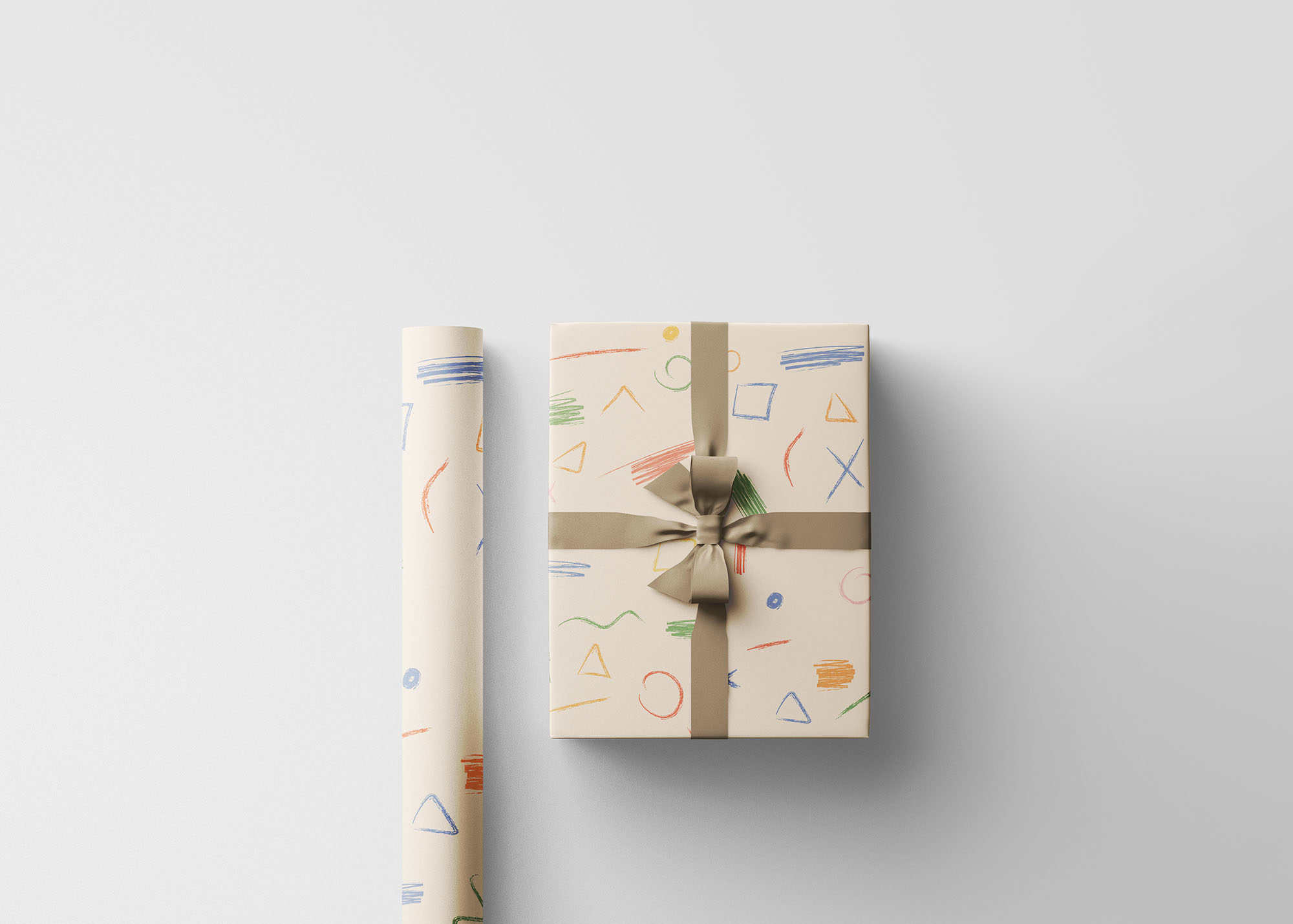 Wrapping Paper Mockup 4