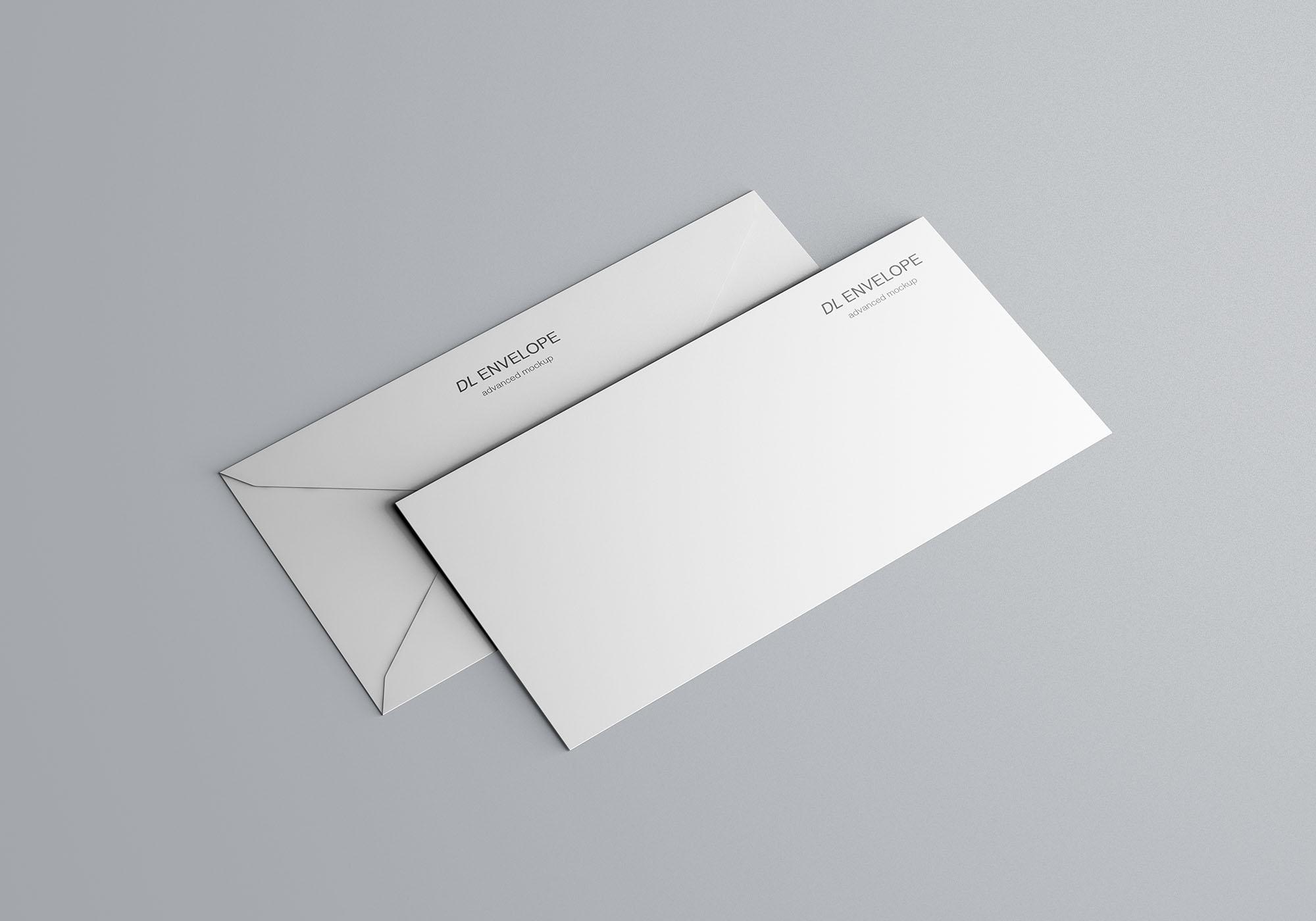 Baronial DL Envelope Mockup 4