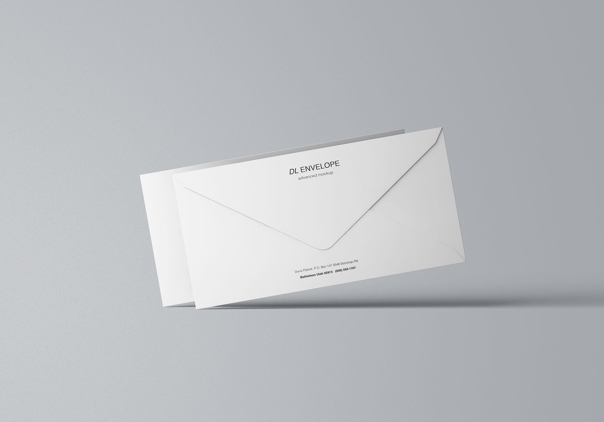 Baronial DL Envelope Mockup 6
