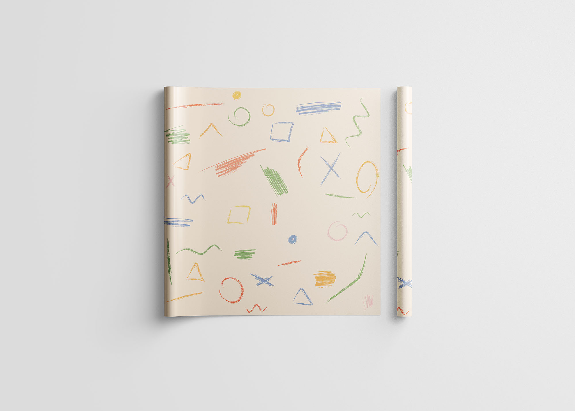 Wrapping Paper Mockup 6