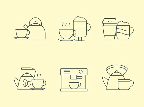 Coffee & Tea Icons