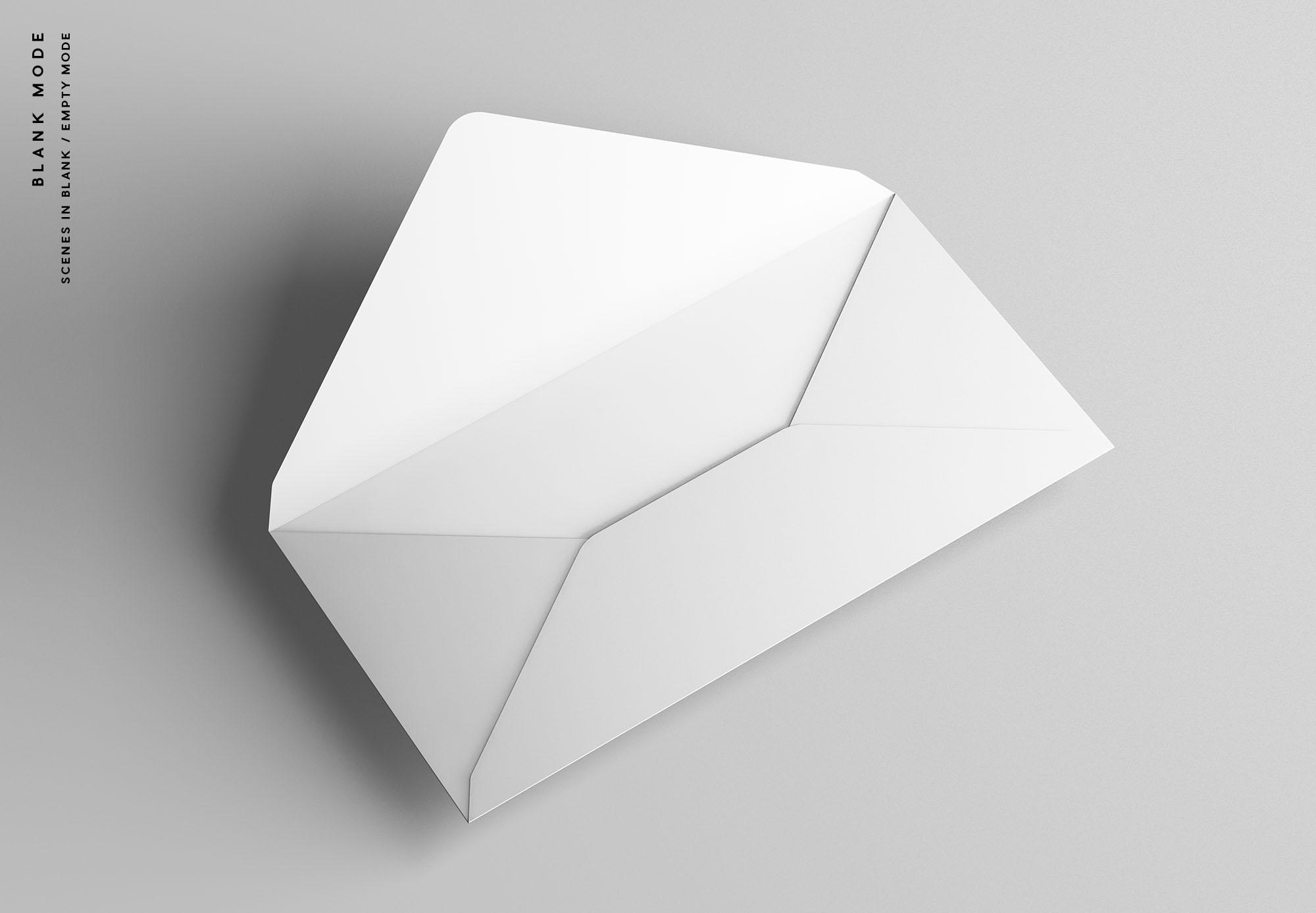 DL Envelope Mockup - Blank Mode