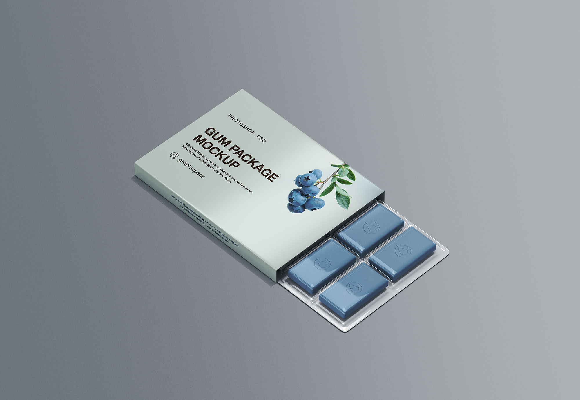 Chewing Gum Packaging Mockup