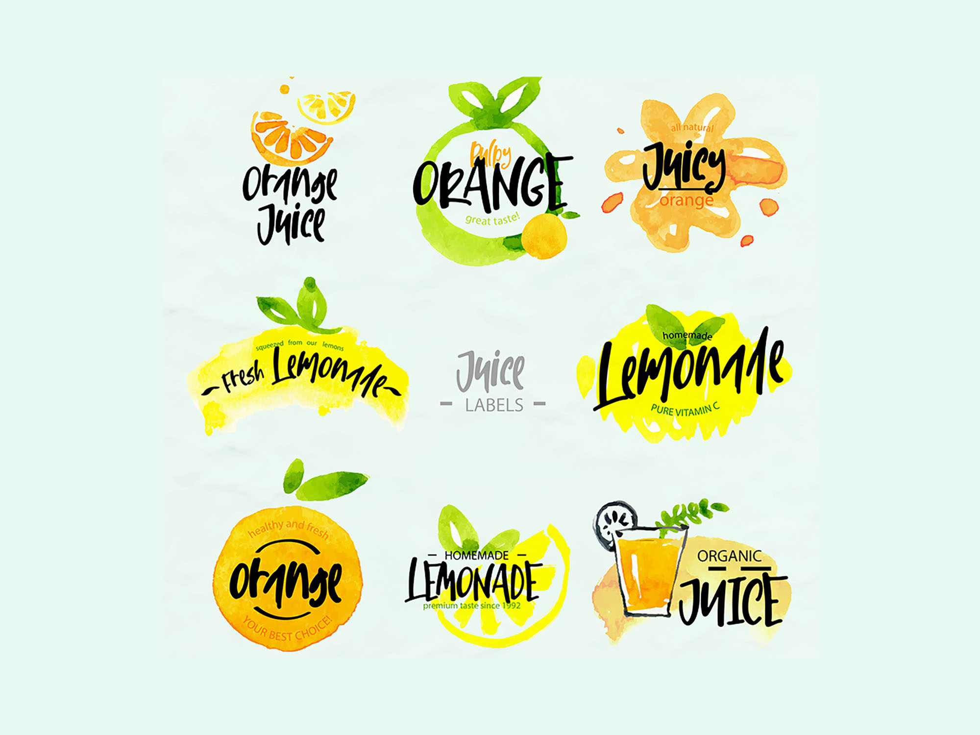 Lemon & Fresh Font Logos