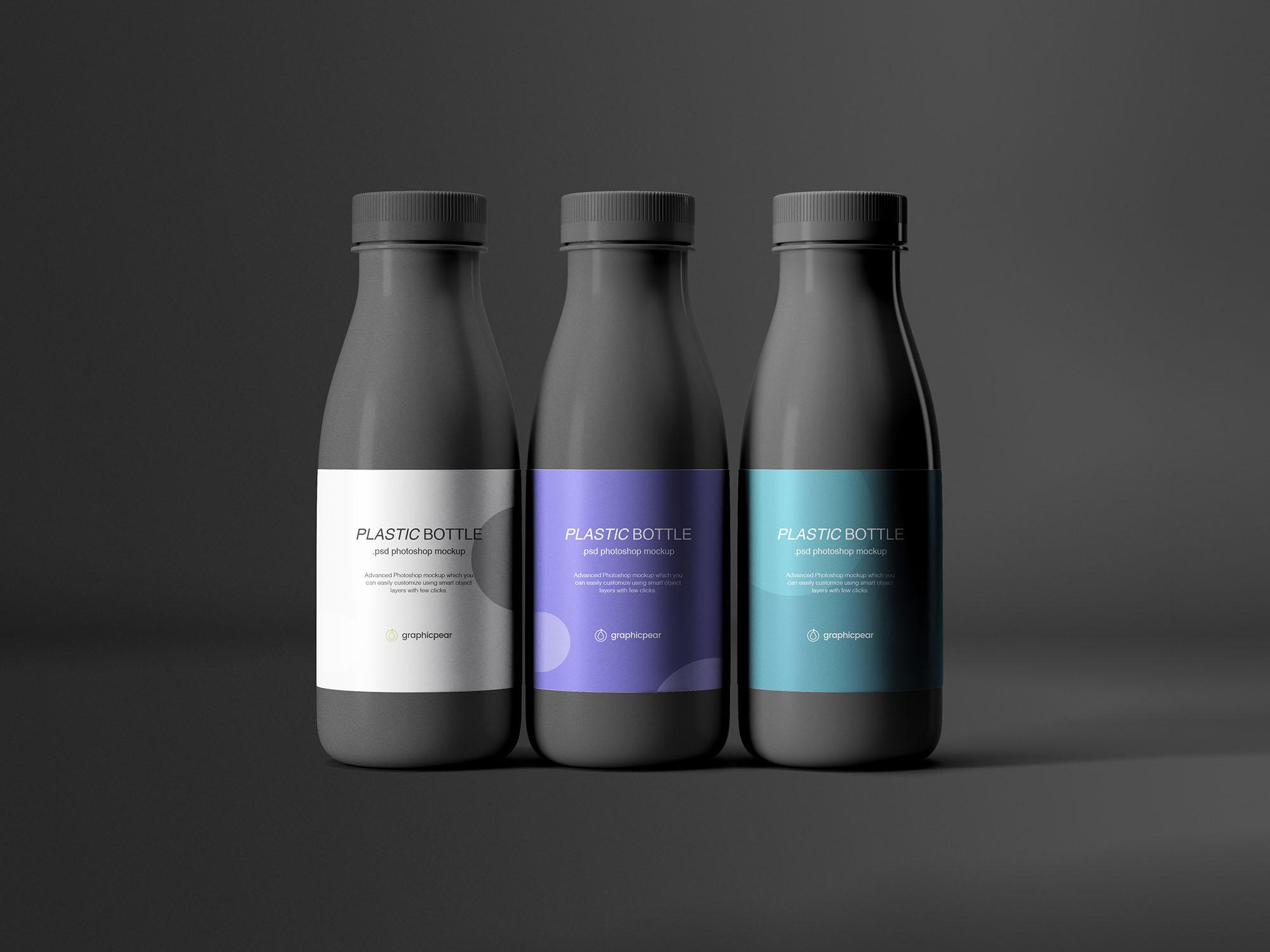 Plastic Bottles Mockup PSD