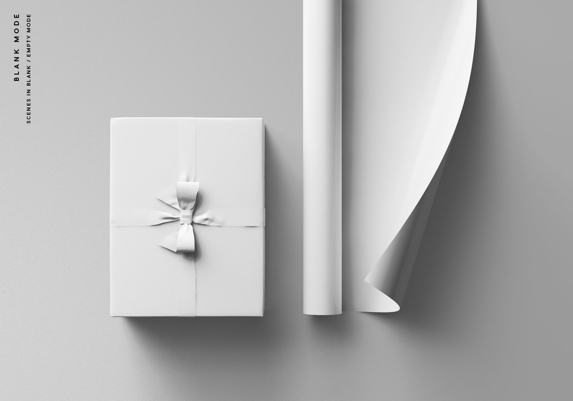 Wrapping Paper Mockup - Blank Mode