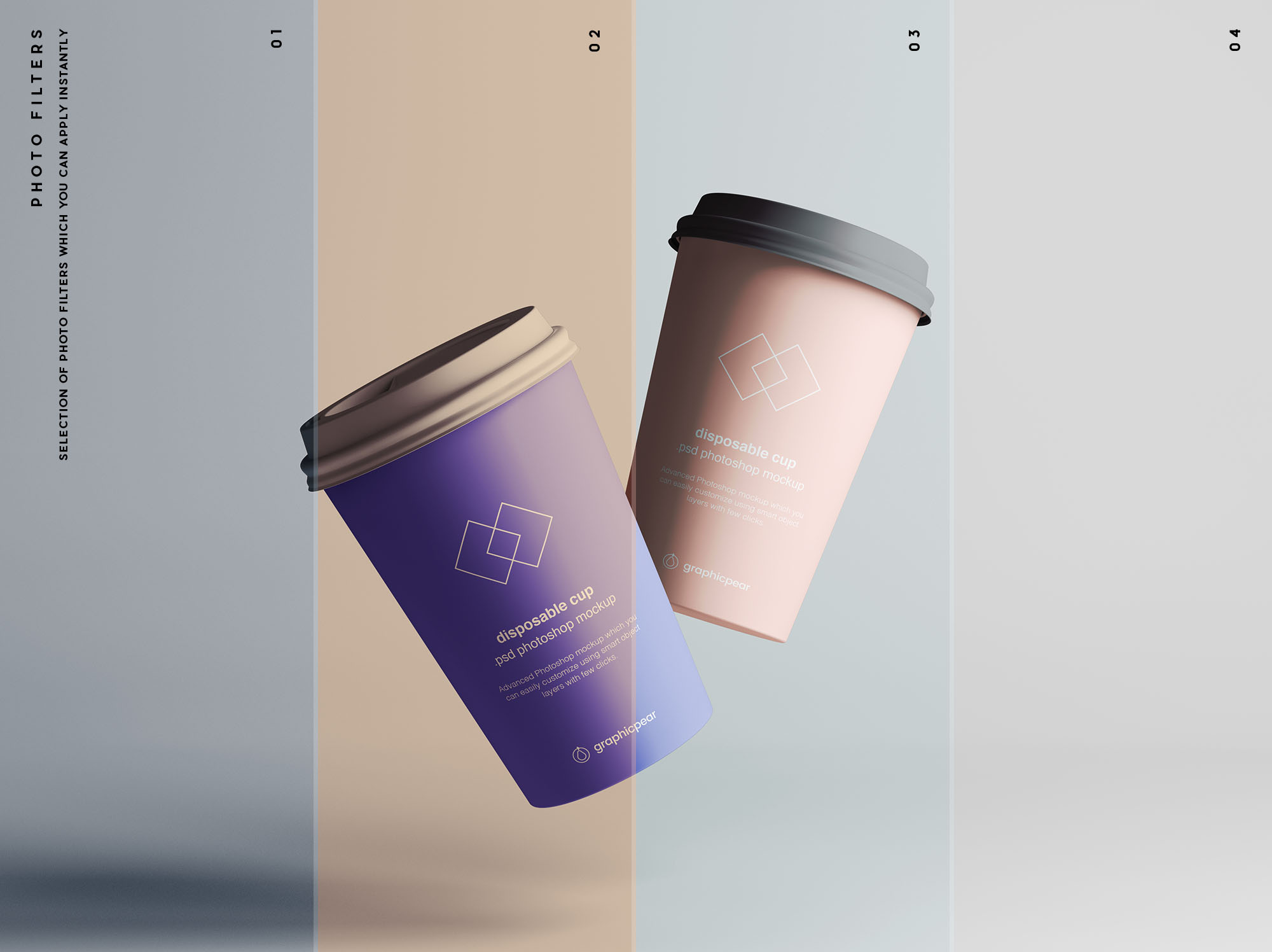 Coffee Cup Mockup Filters