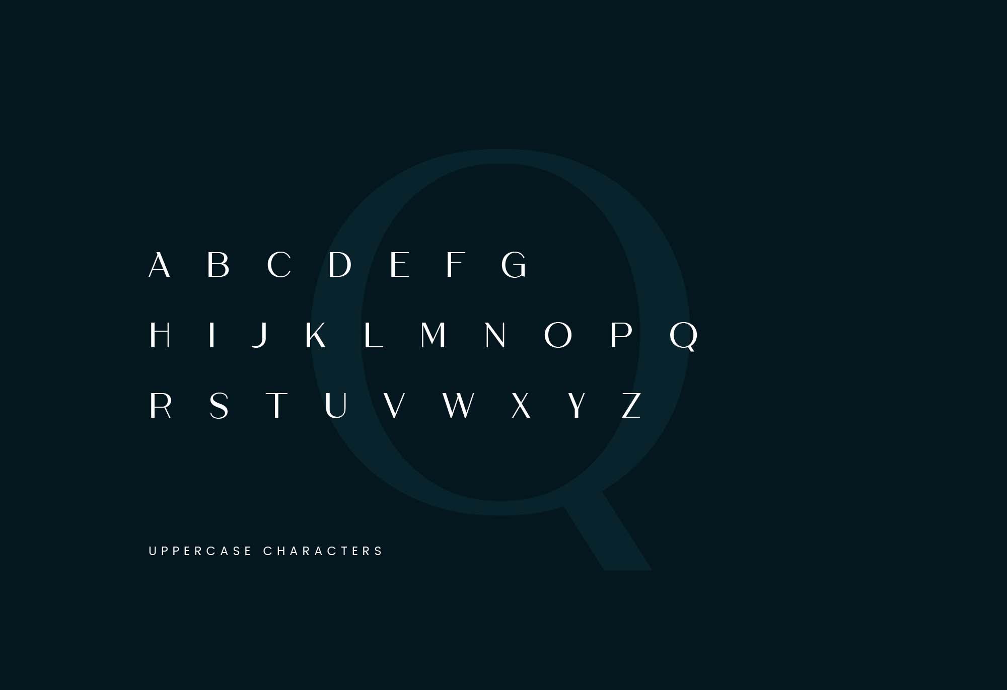 Cremona Font Uppercase