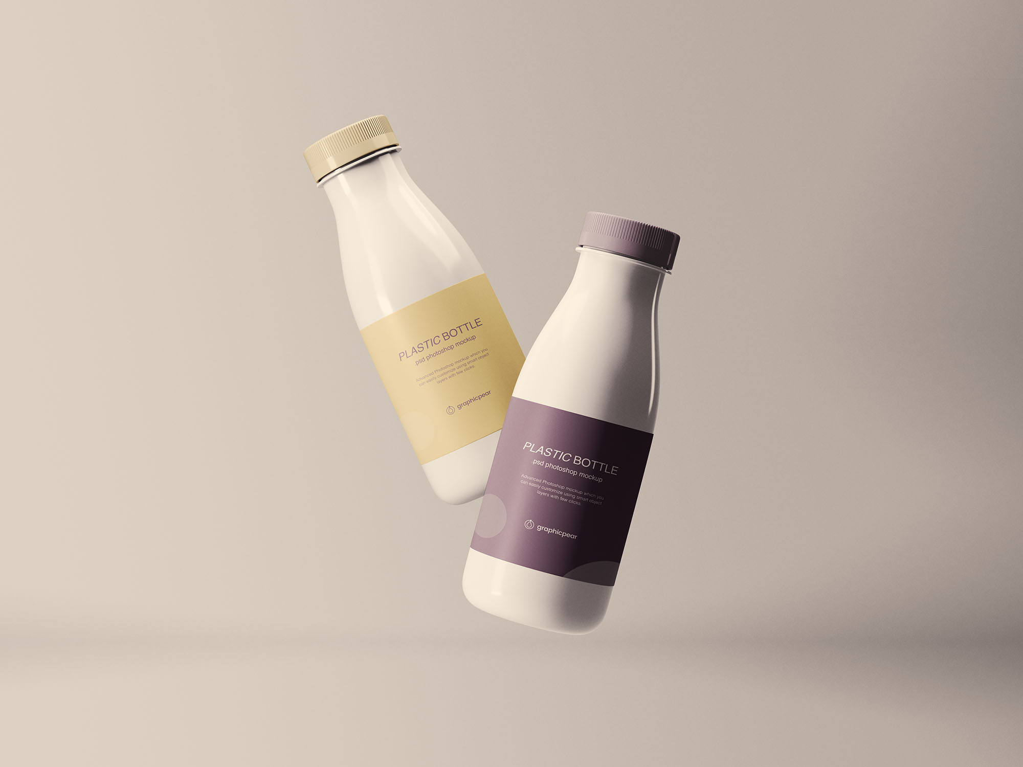 Floating Plastic Bottles Mockup