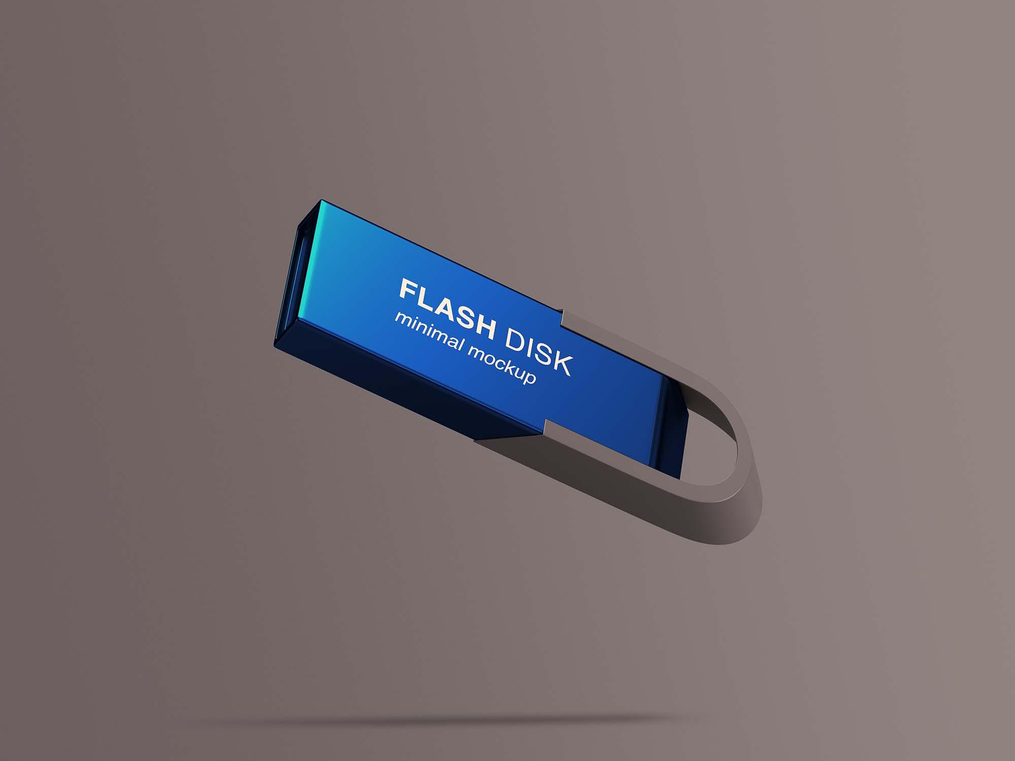 Flying Flash Disk Mockup PSD