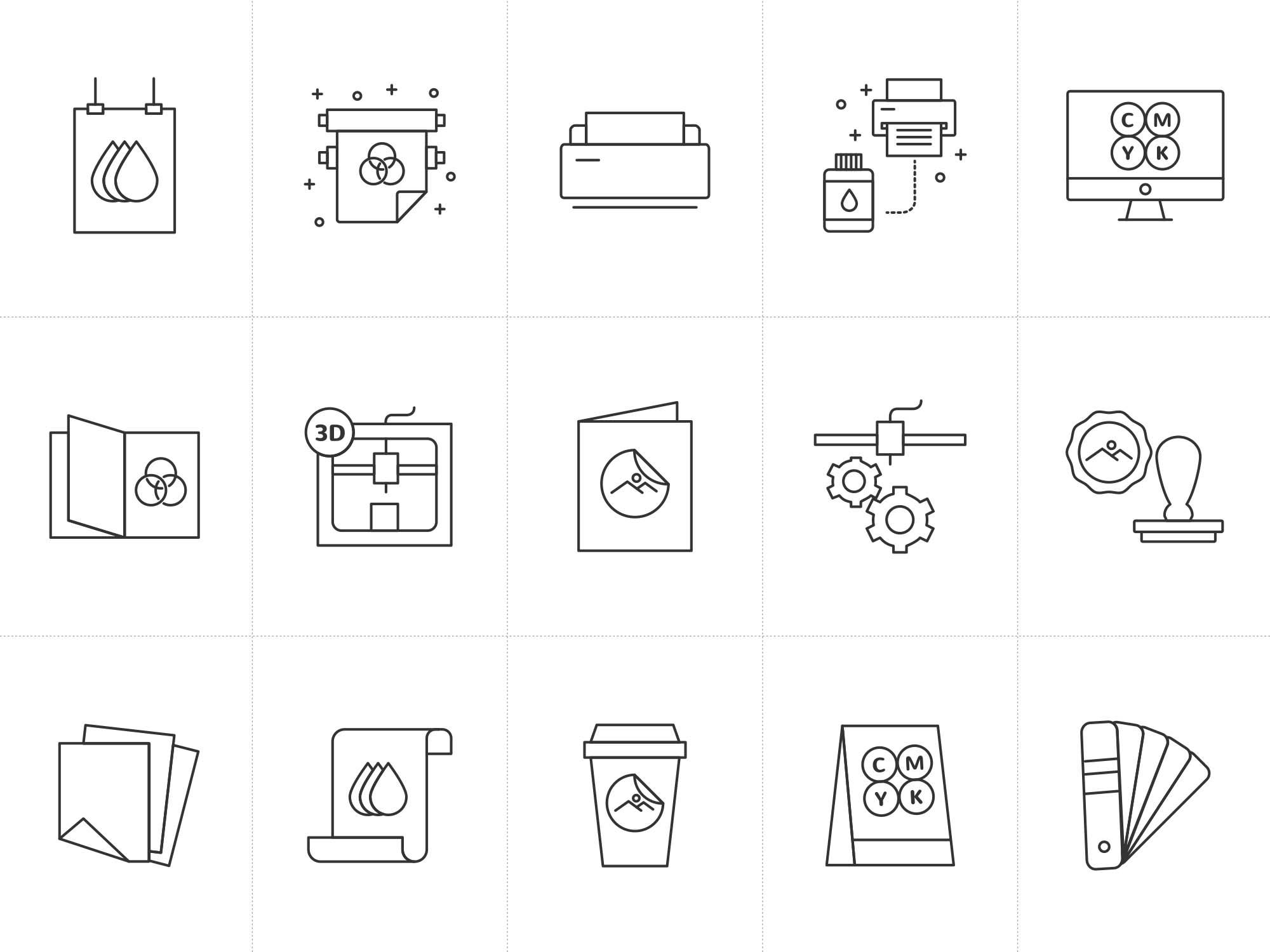 Printshop Vector Icons 2