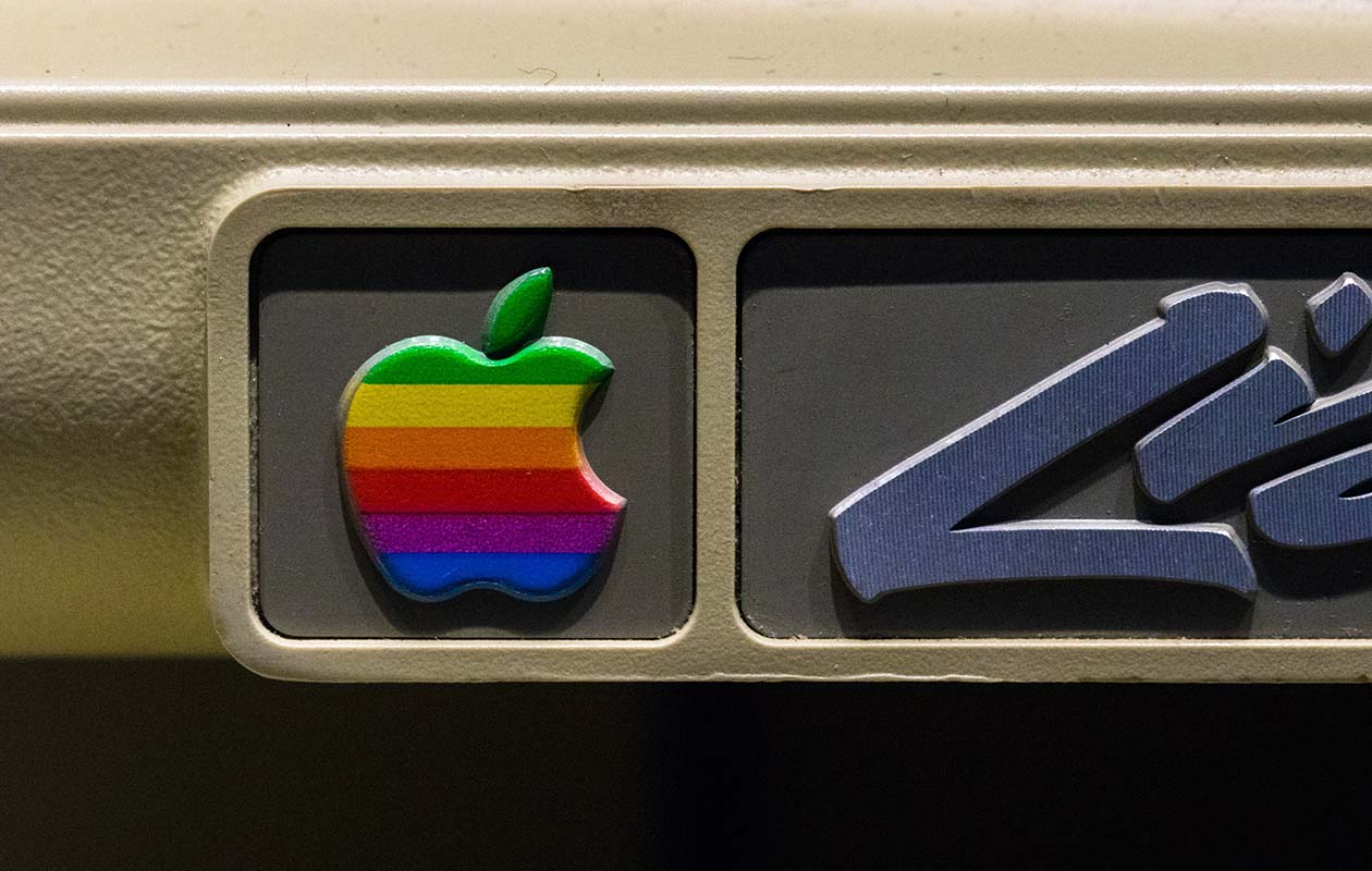 old colored apple logo