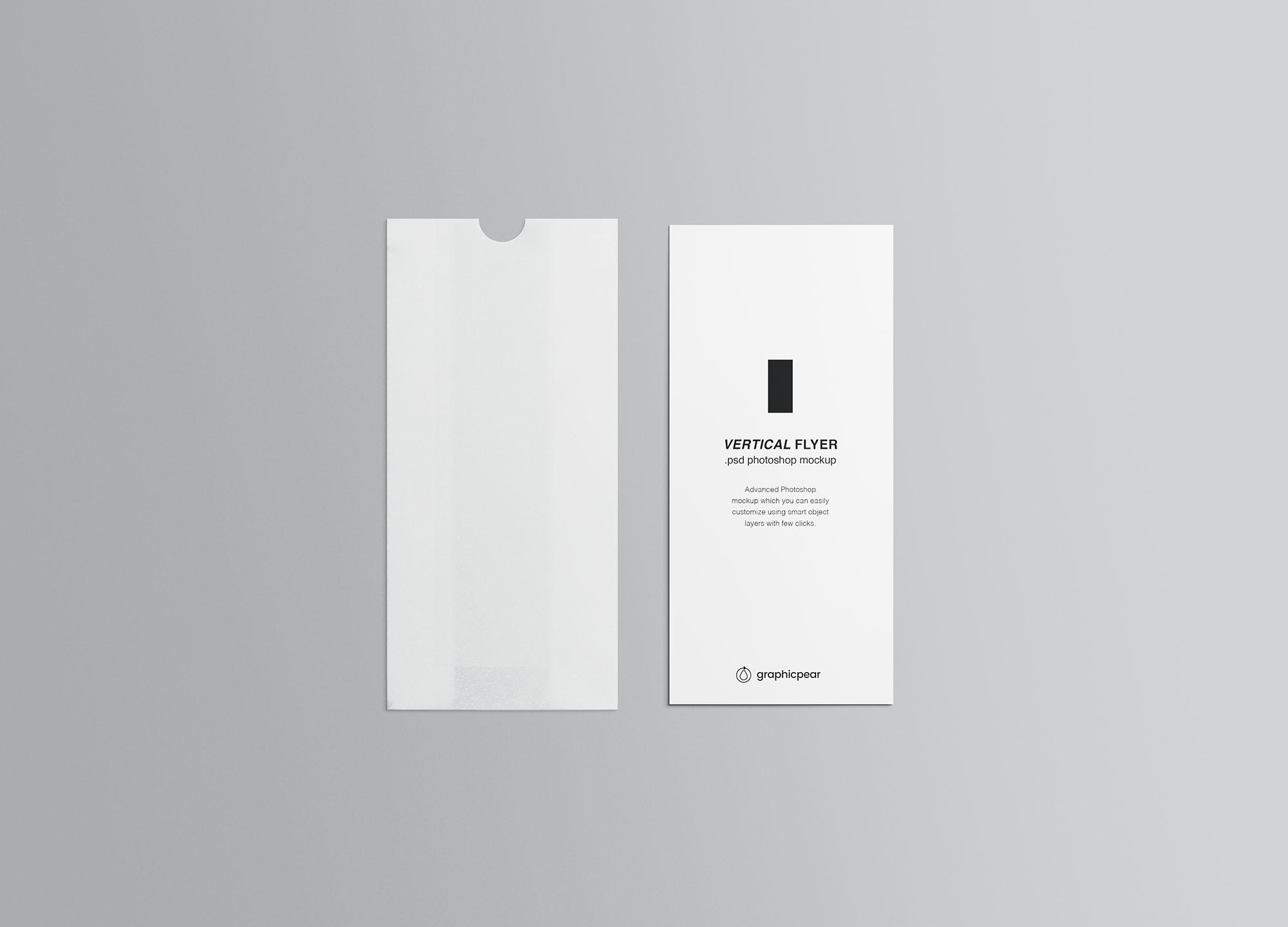 Vertical Leaflet Mockup 3