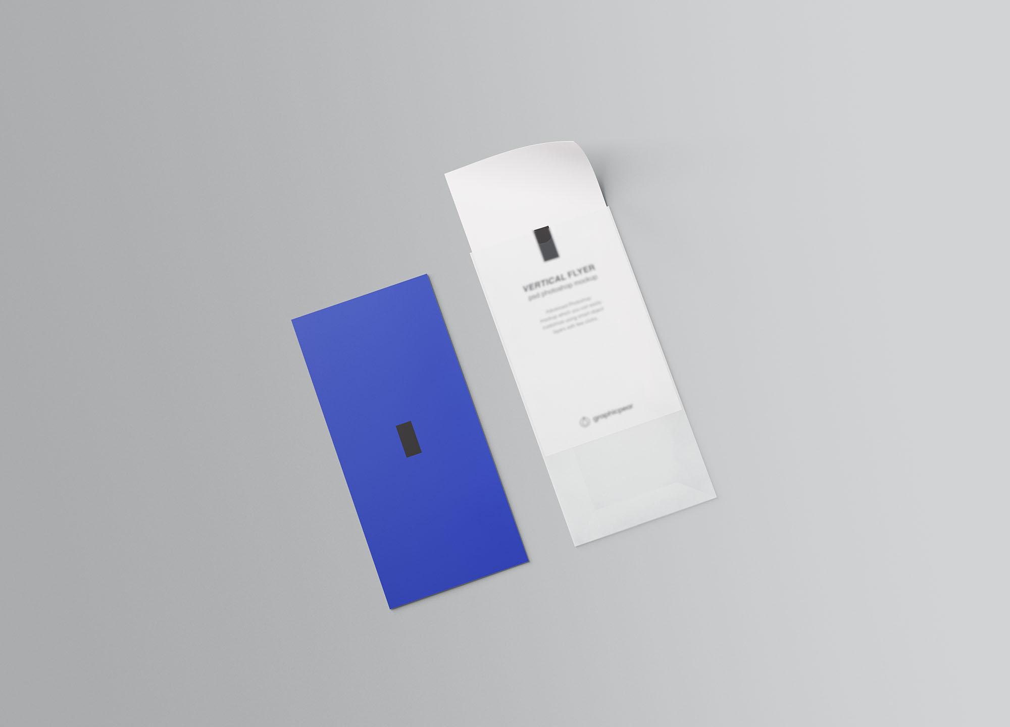 Vertical Leaflet Mockup 4