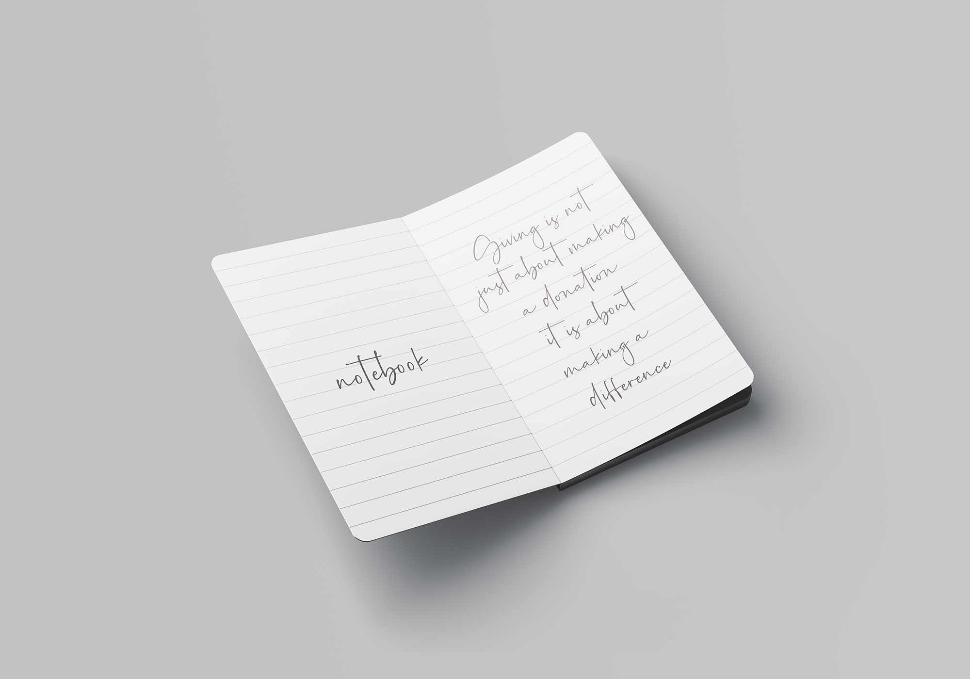 Notebook Mockup 4