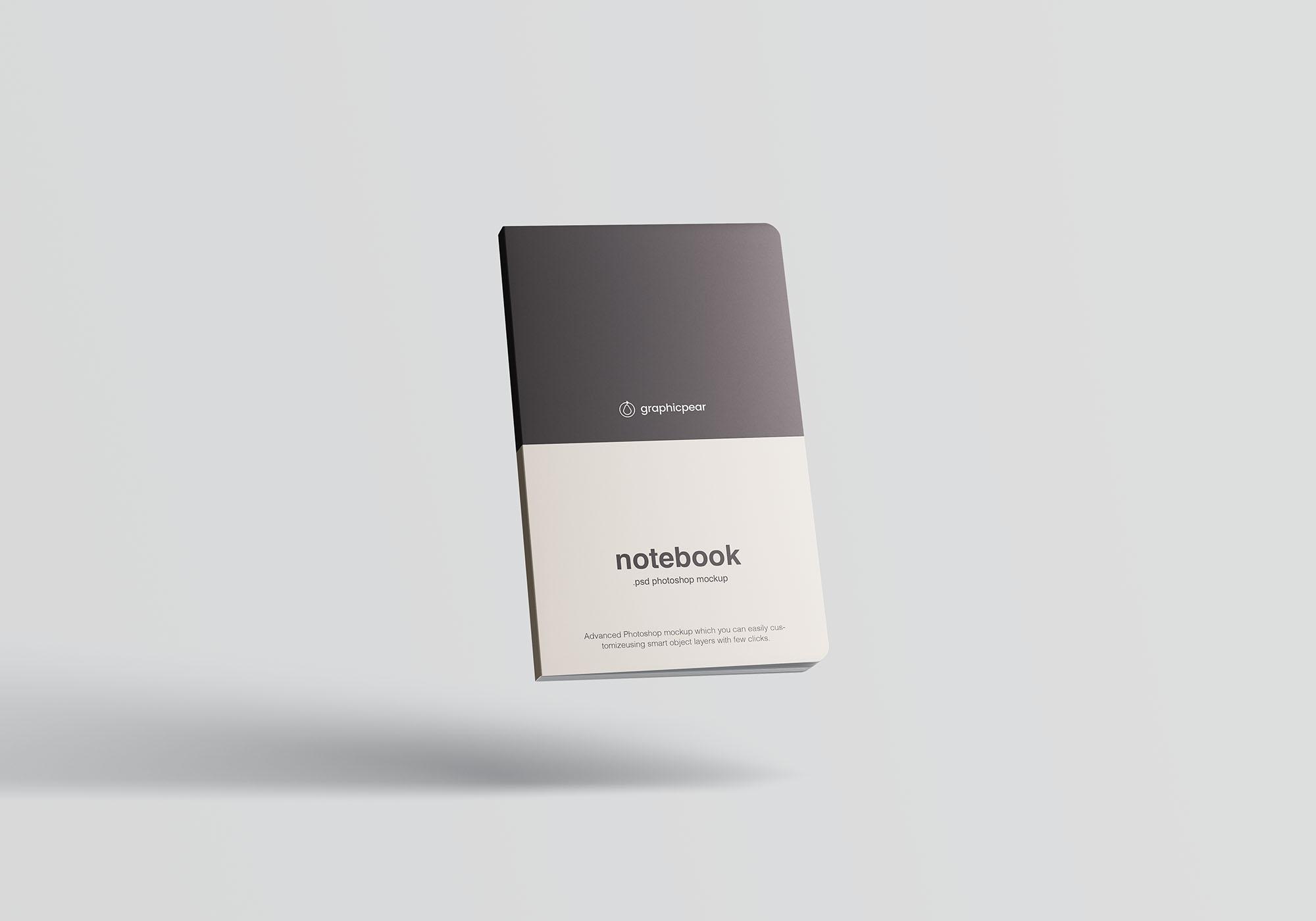 Notebook Mockup Floating