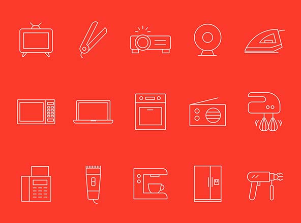 Home Appliances Vector Icons Part 02