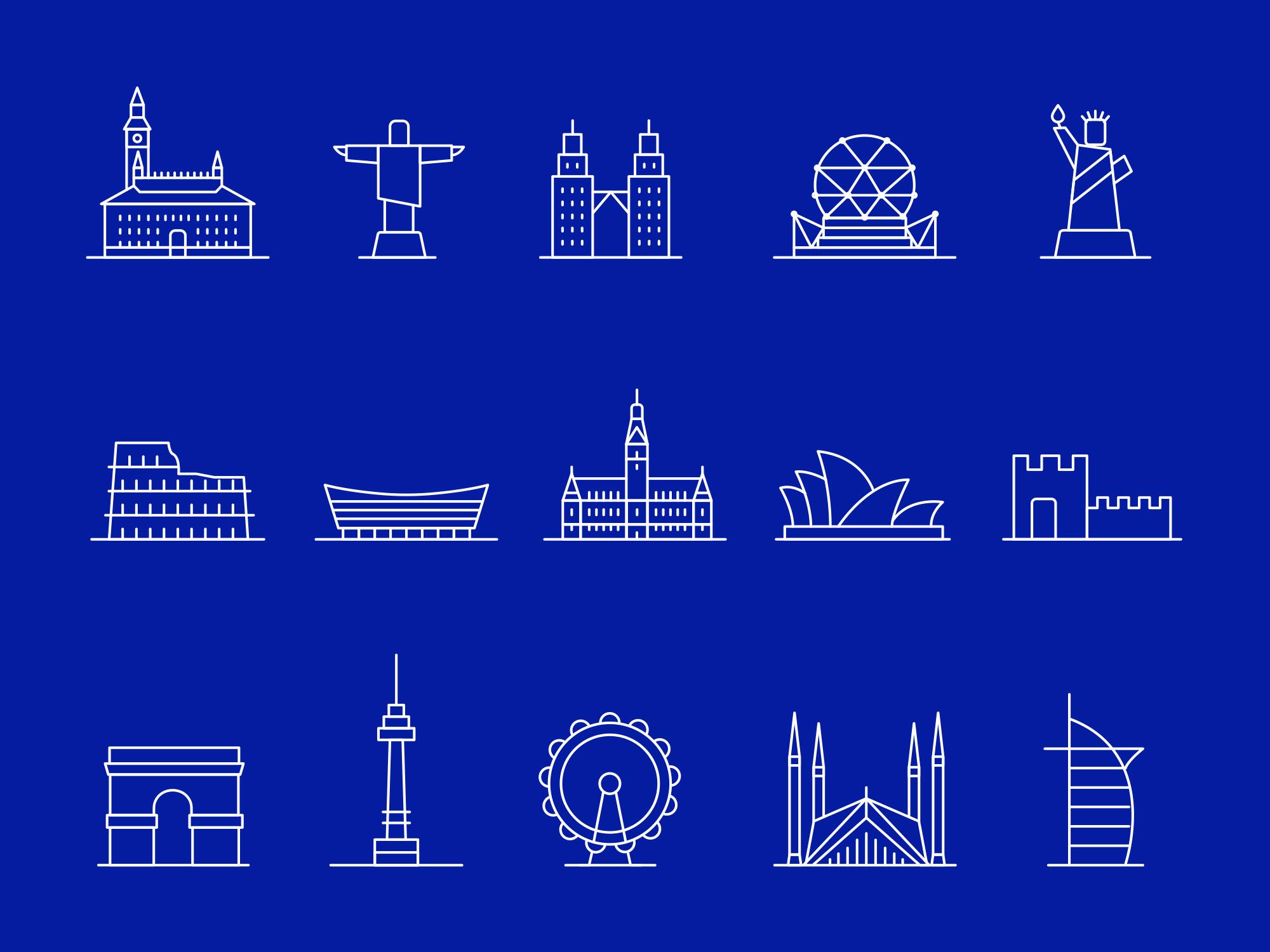 Landmark Icons Part 01