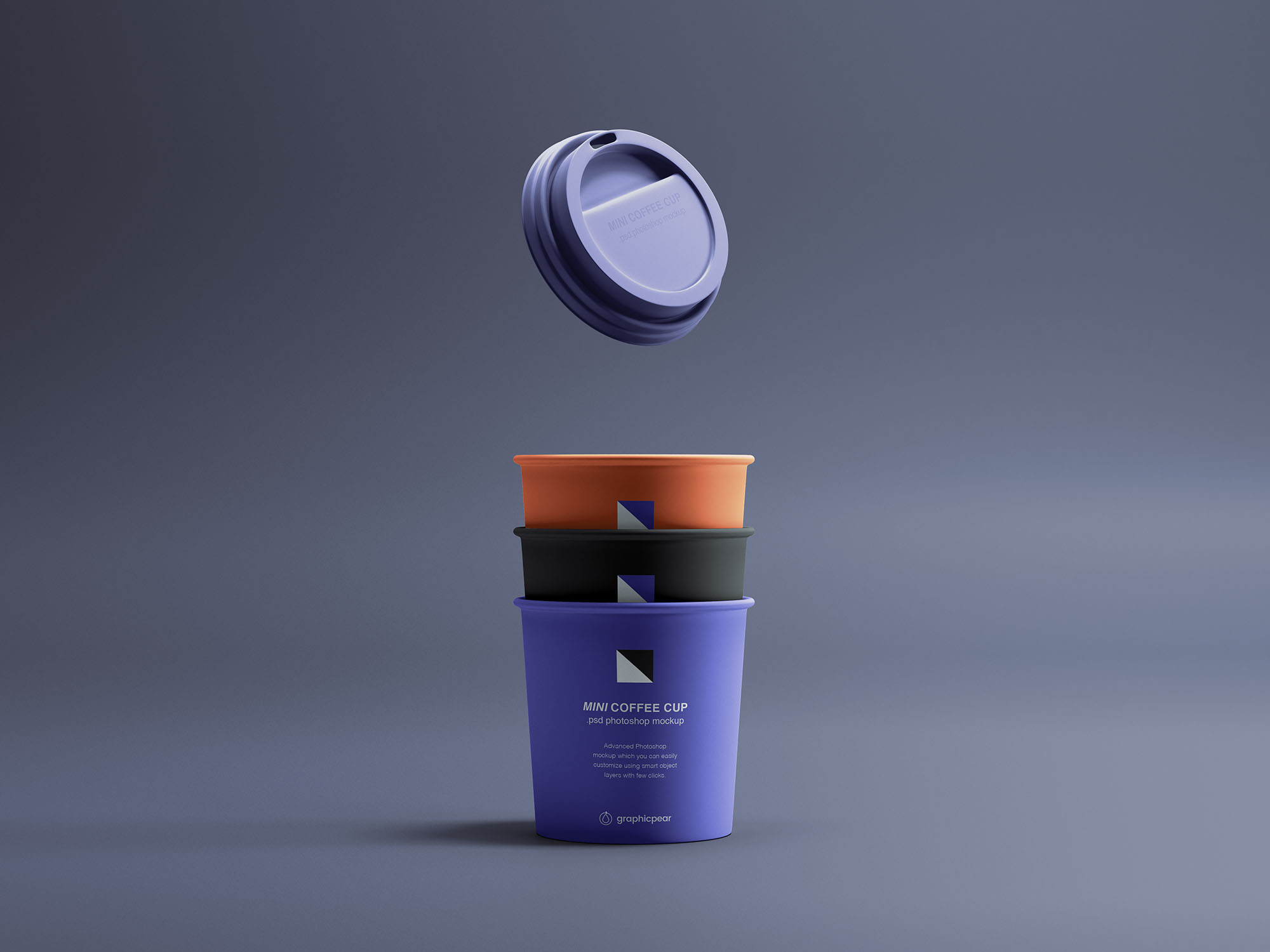 Mini Coffee Cups Mockup
