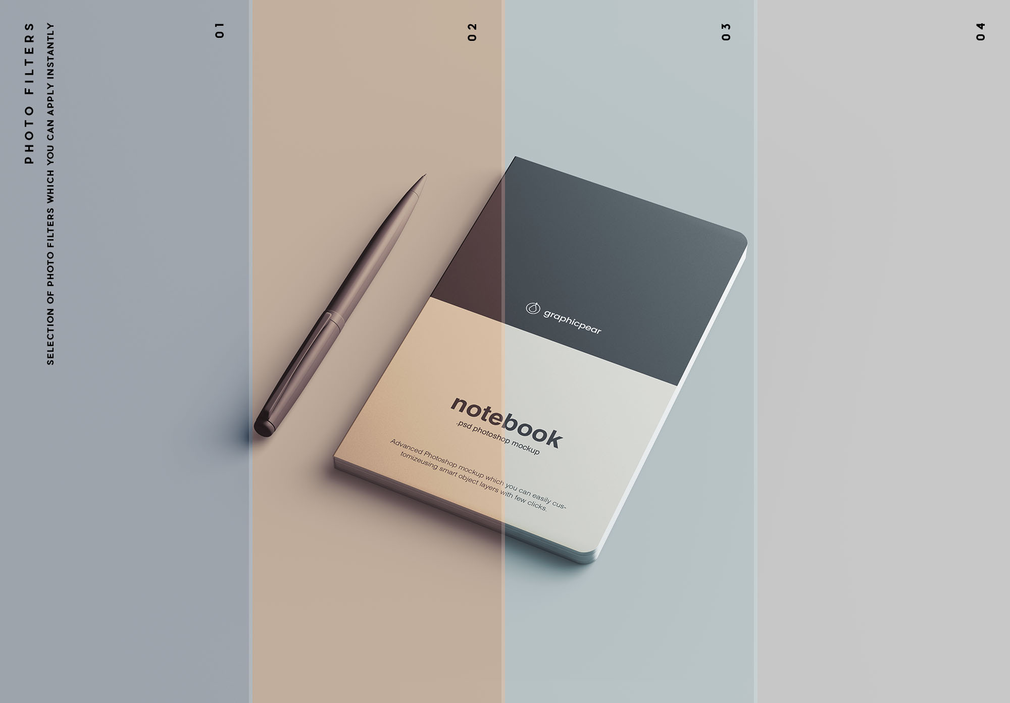 Notebook Mockup Filters
