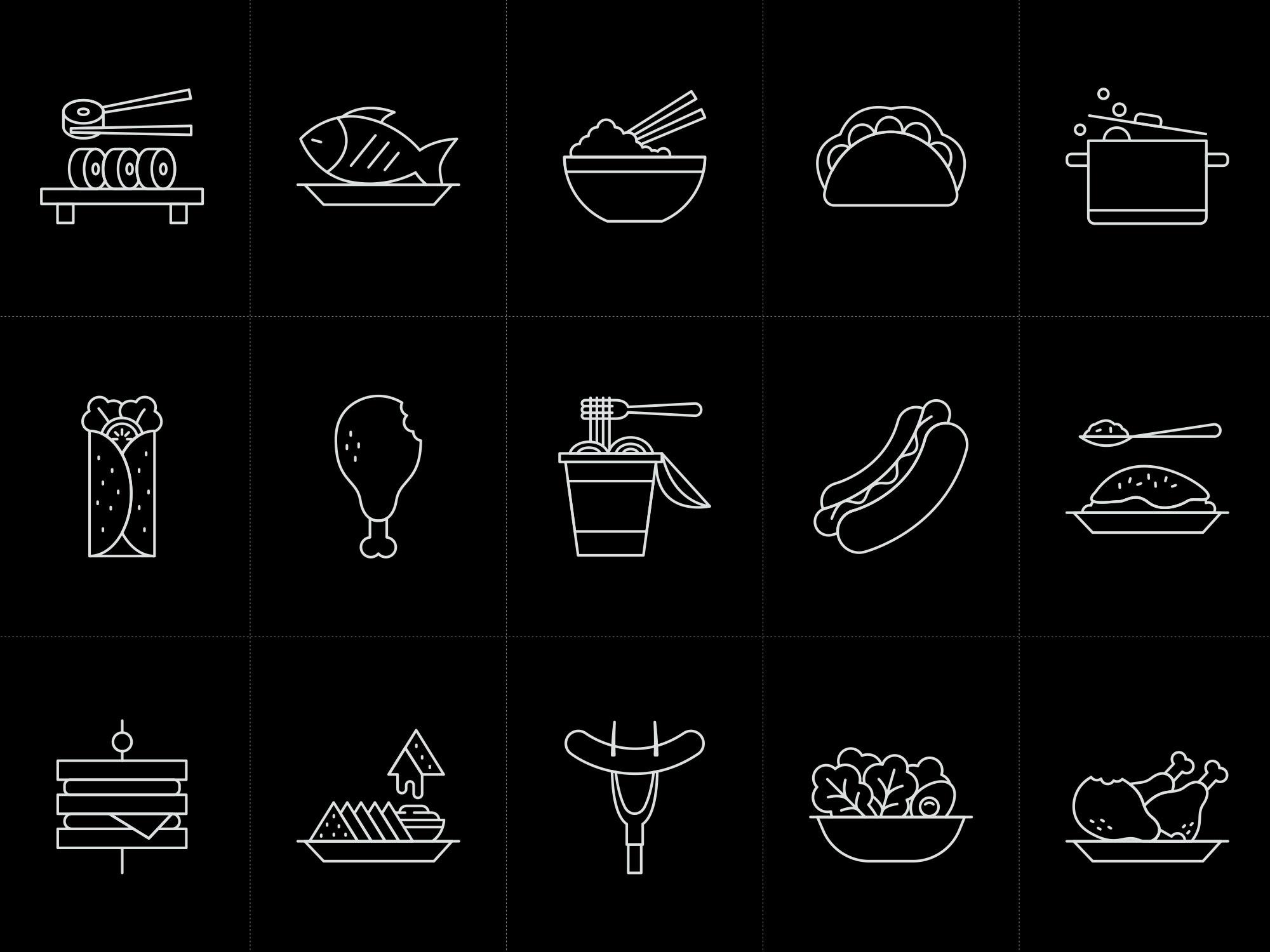 Restaurant Food Icons 2