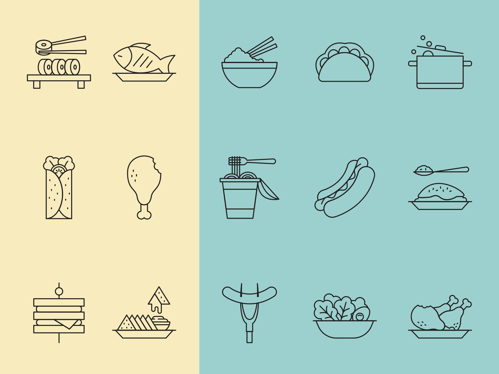 Restaurant Food Icons