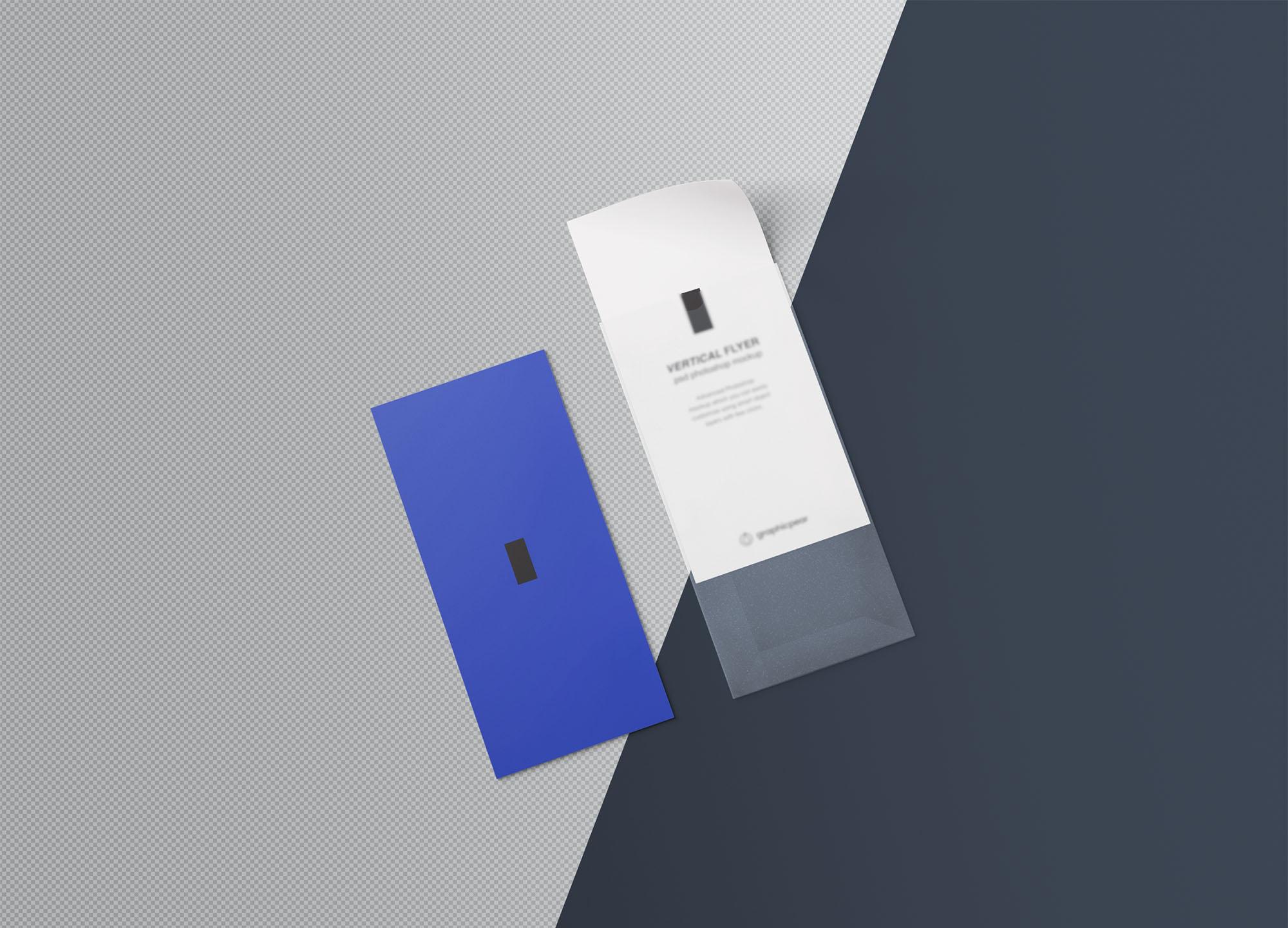 Vertical Leaflet Mockup - Background