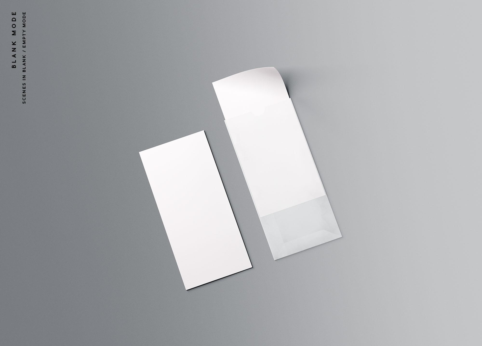 Vertical Leaflet Mockup - Blank Mode