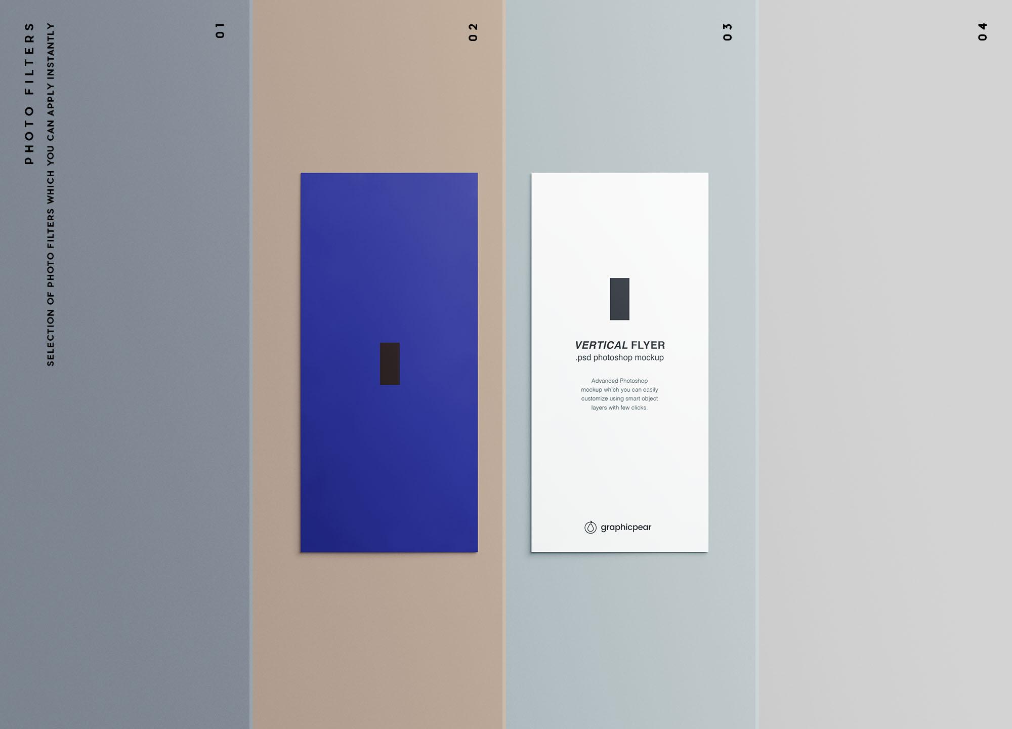 Vertical Leaflet Mockup Filters