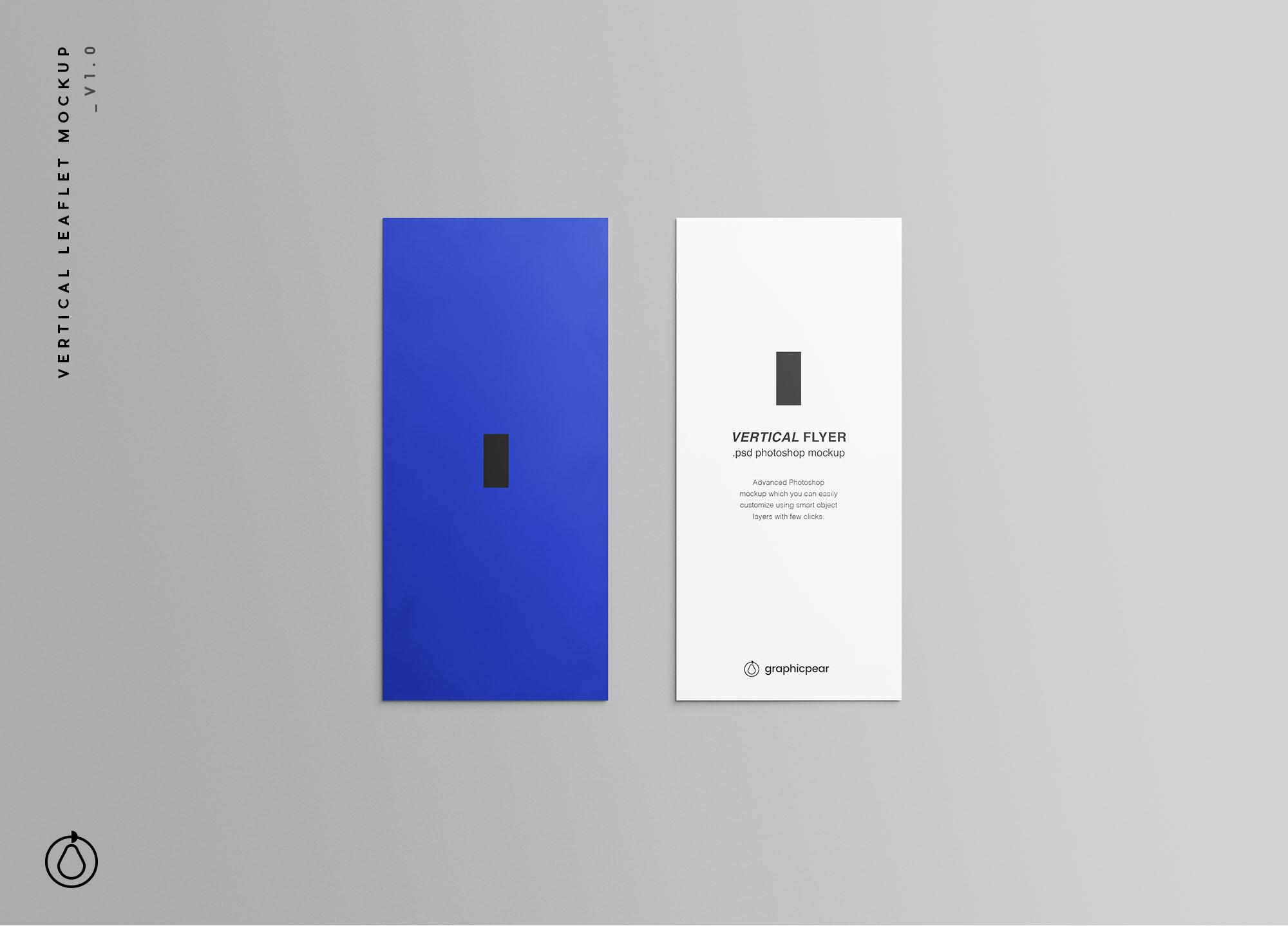 Vertical Leaflet Mockup