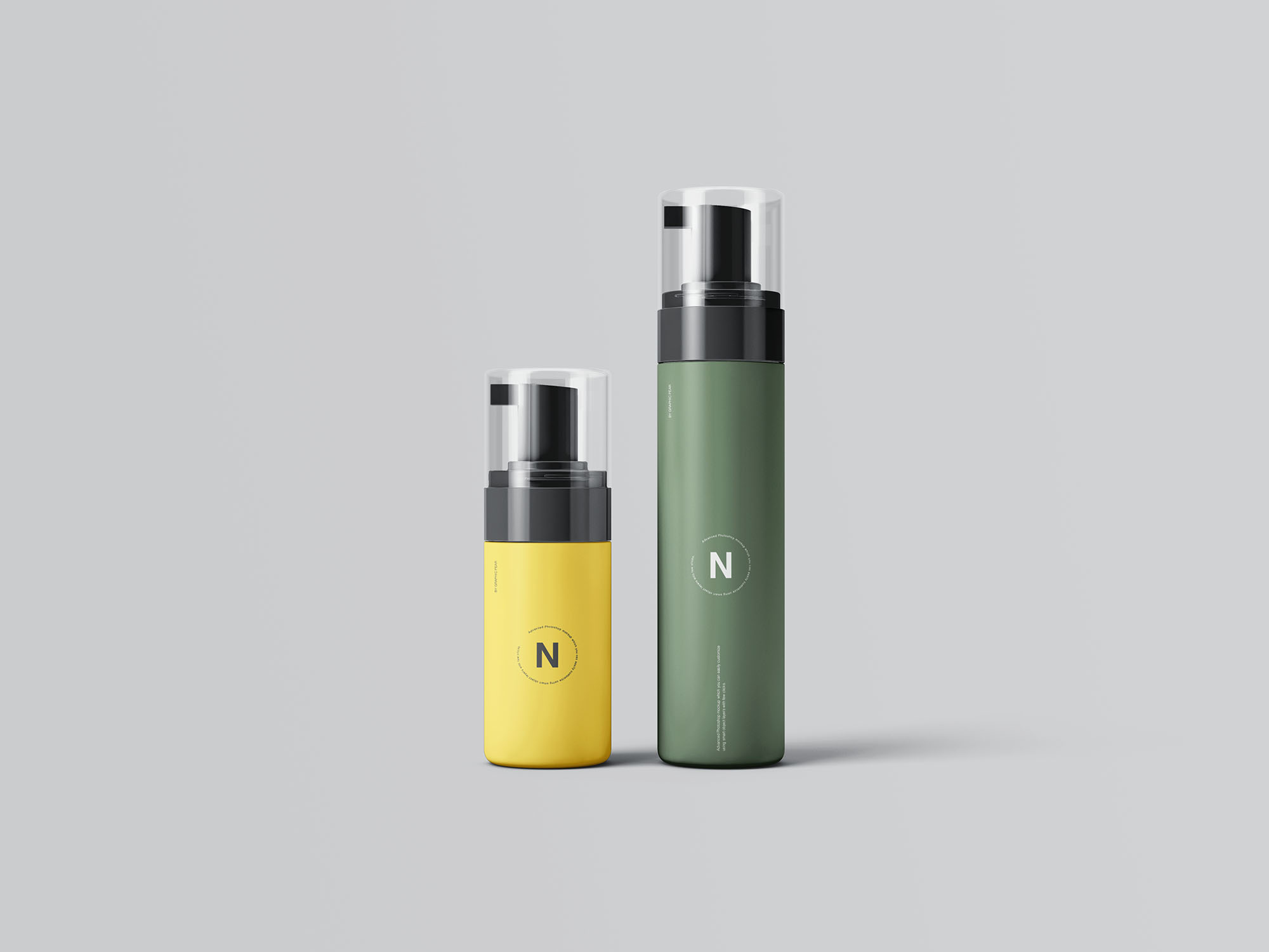 Cosmetic Bottles Packaging Mockup 2
