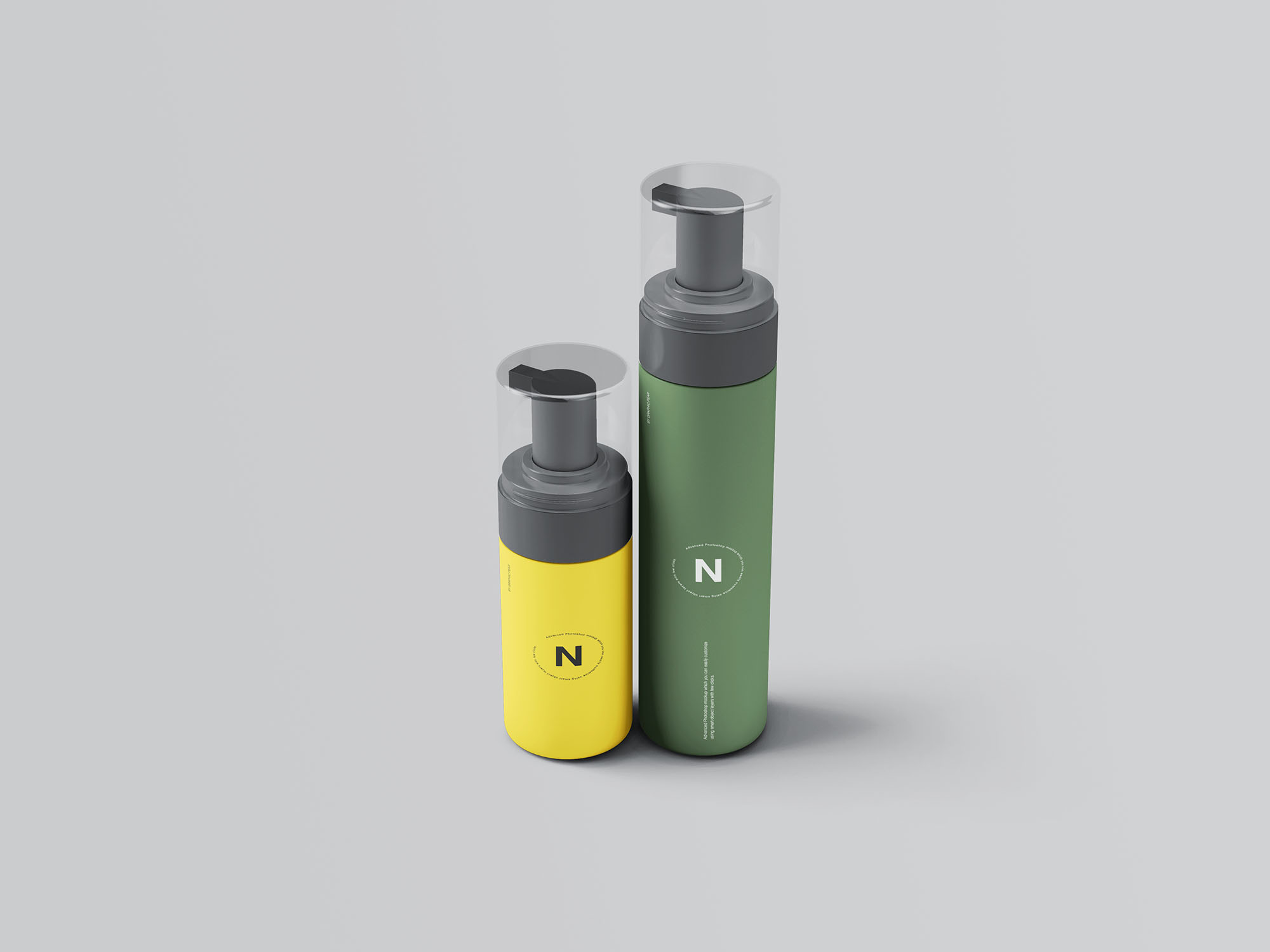 Cosmetic Bottles Packaging Mockup 4