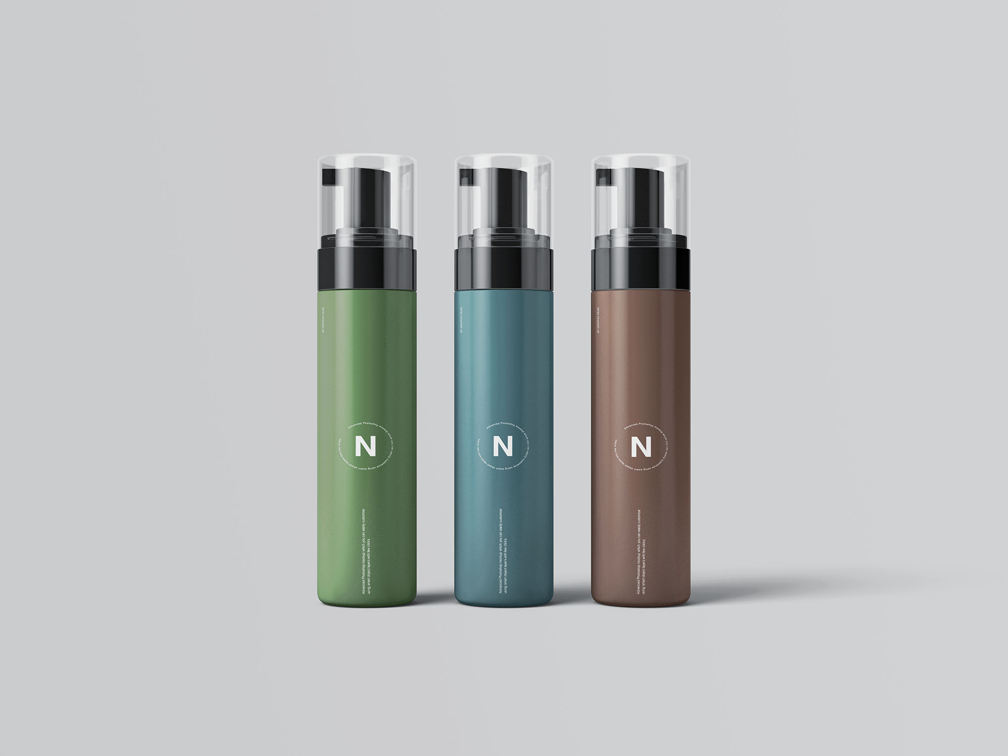 Cosmetic Bottles Packaging Mockup 5