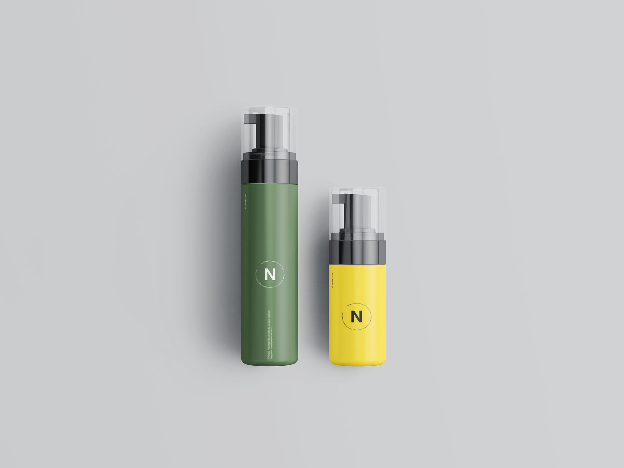 Cosmetic Bottles Packaging Mockup 6