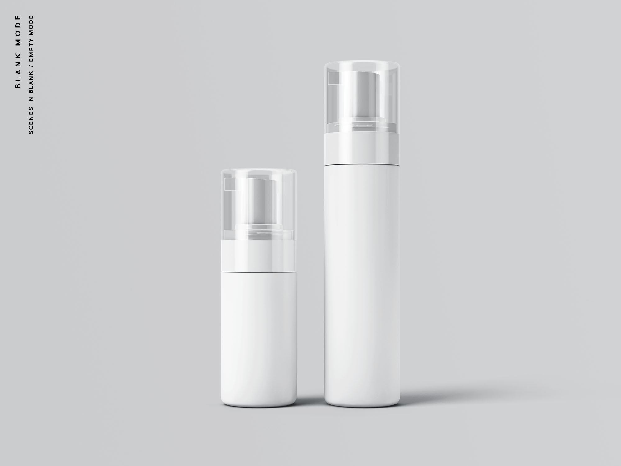 Cosmetic Bottle Packaging Mockup - Blank Mode