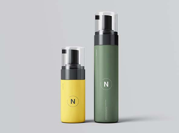 Cosmetic Bottles Packaging Mockup