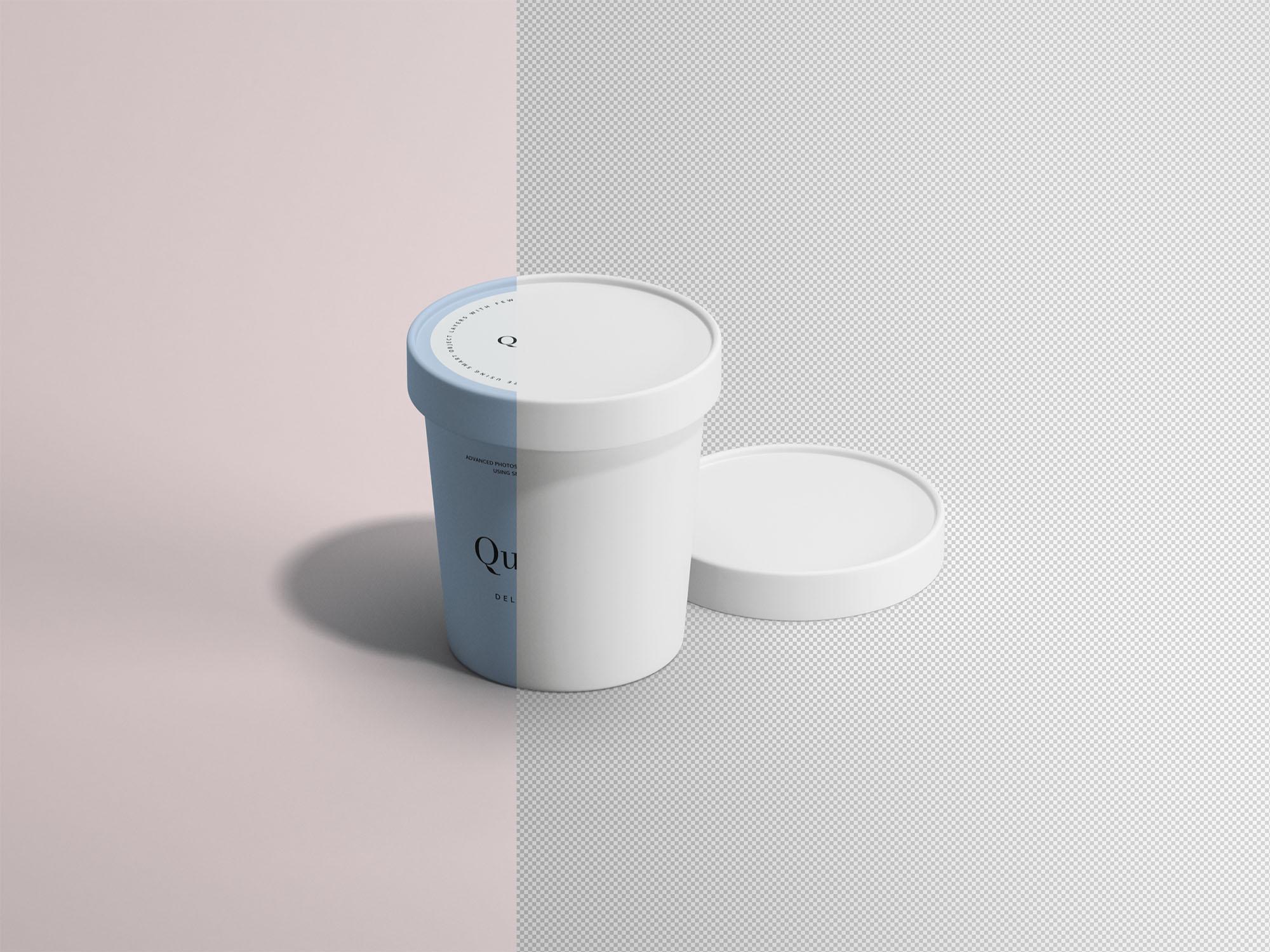 Ice Cream Paper Cup Mockup PSD