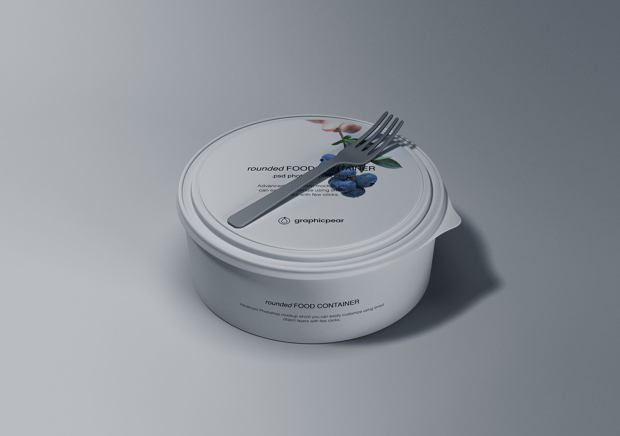 Rounded Food Container Mockup