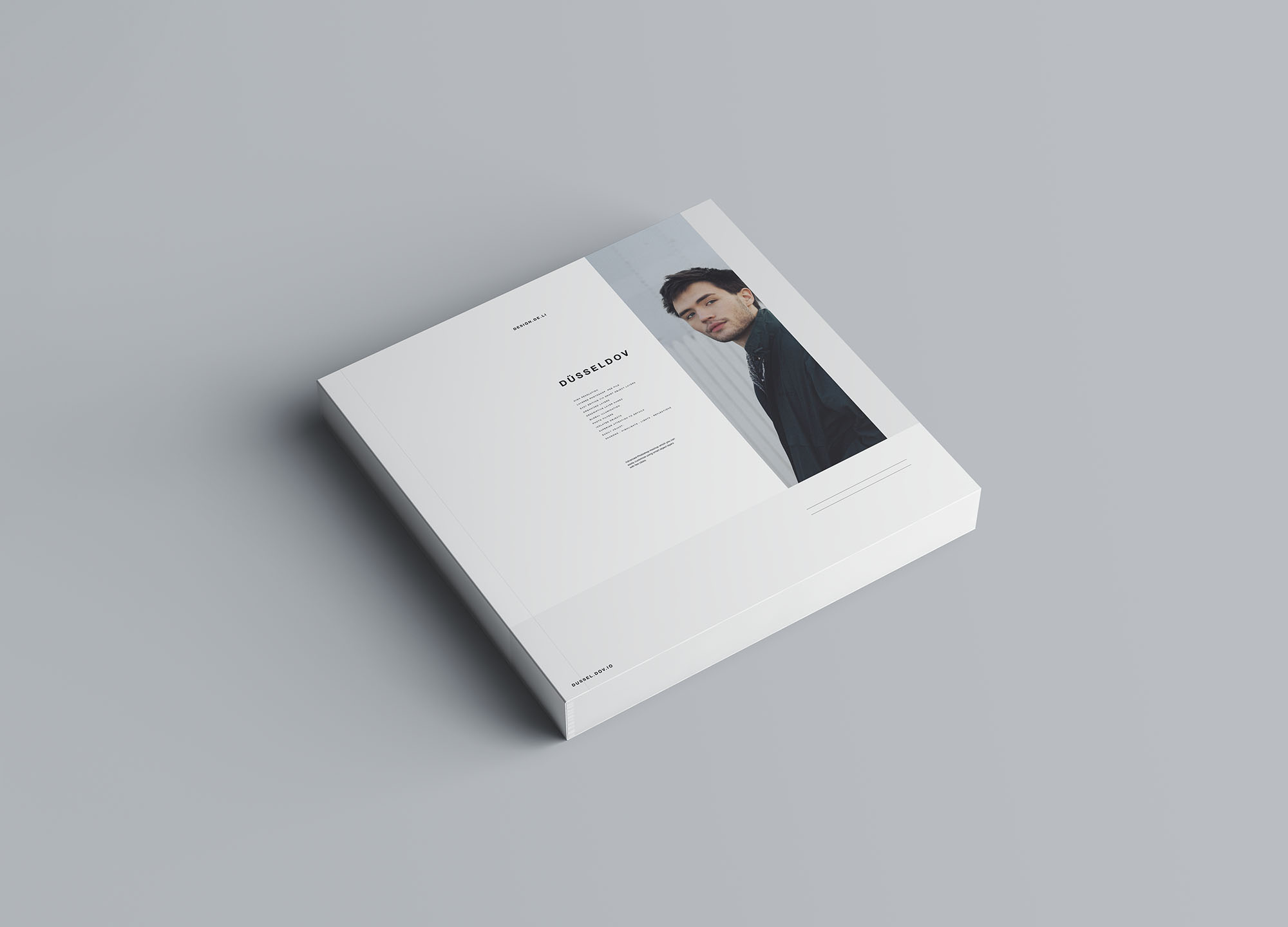 Square Softcover Book Mockup 1