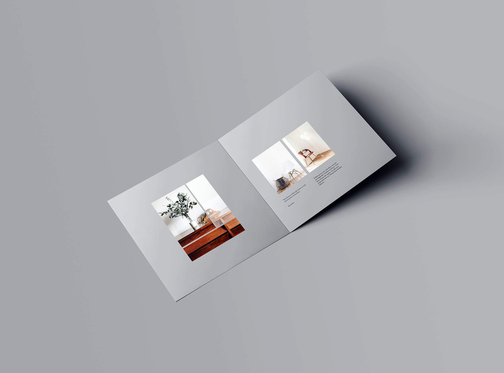 Square Bifold Brochure Mockup 1
