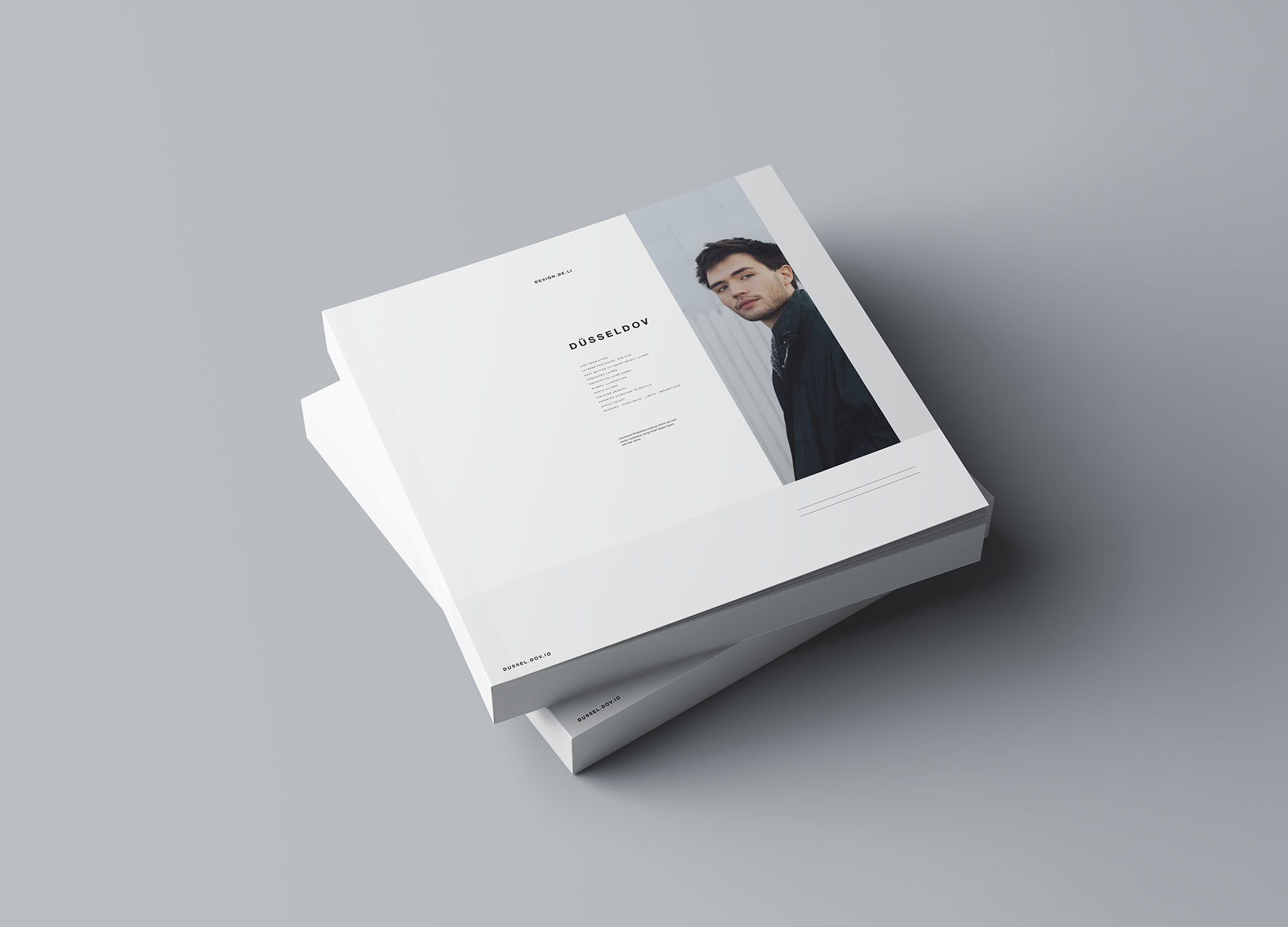Square Softcover Book Mockup 2