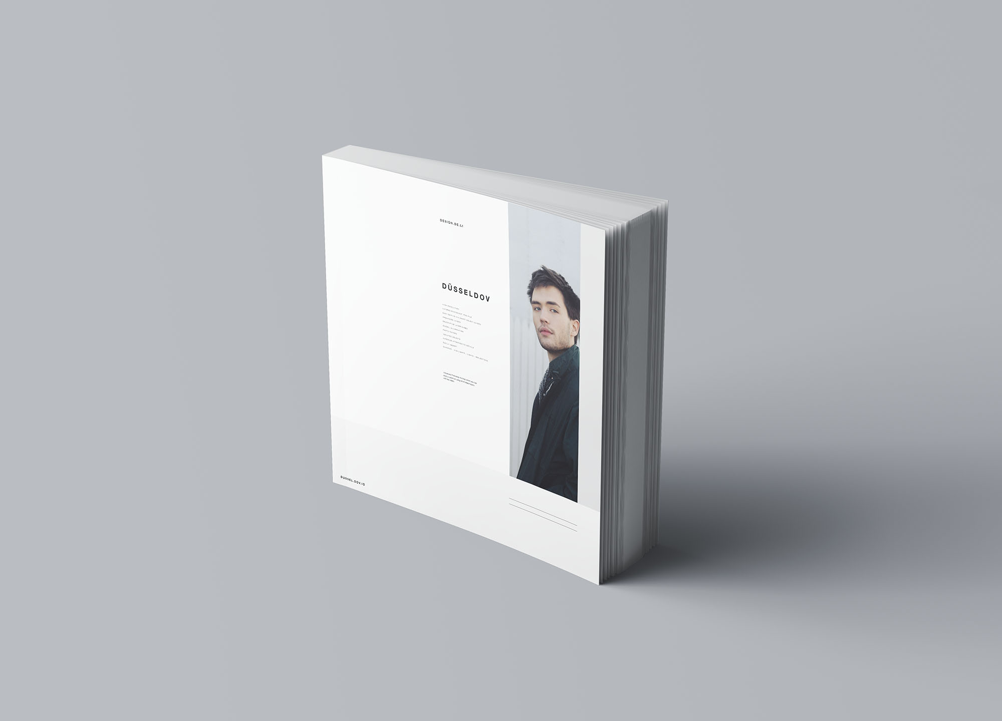 Square Softcover Book Mockup 3