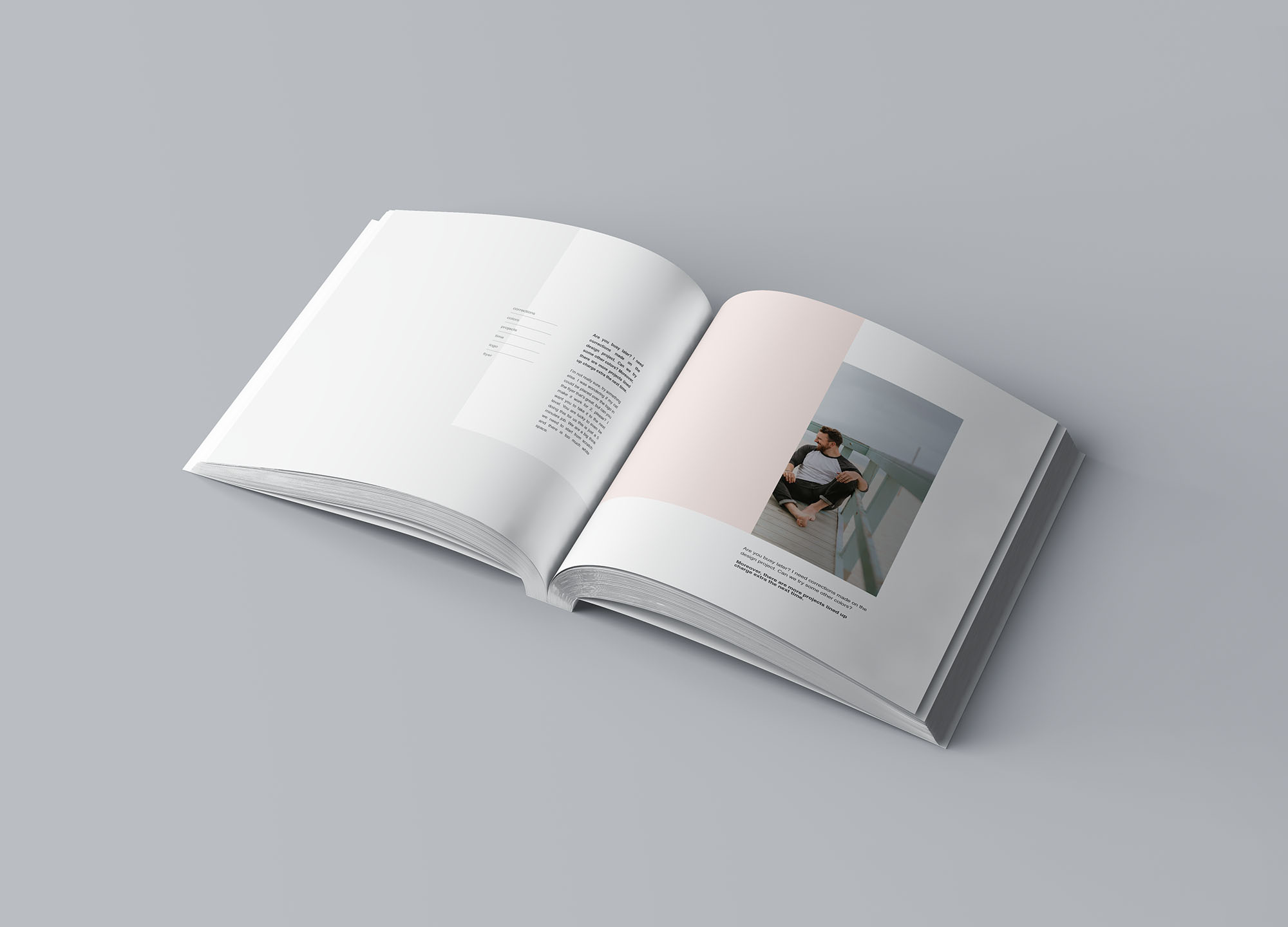 Square Softcover Book Mockup 4
