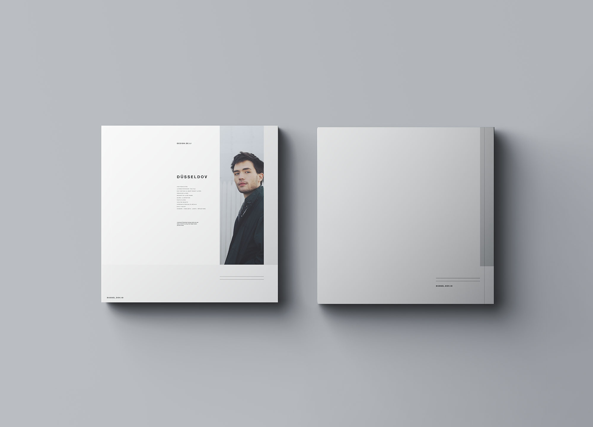 Square Softcover Book Mockup 7