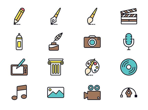 Art & Design Vector Icons