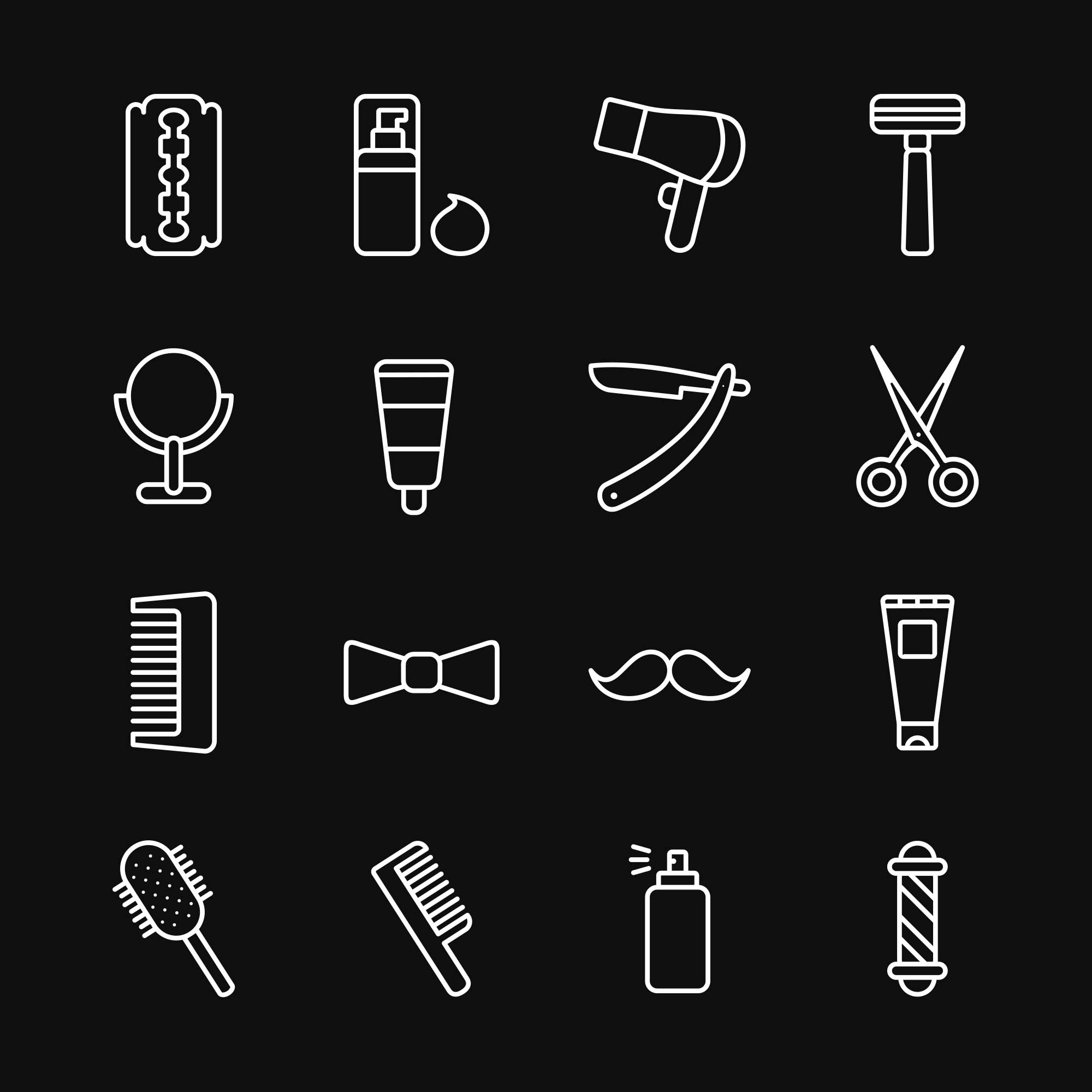 Barber Vector Icons 2