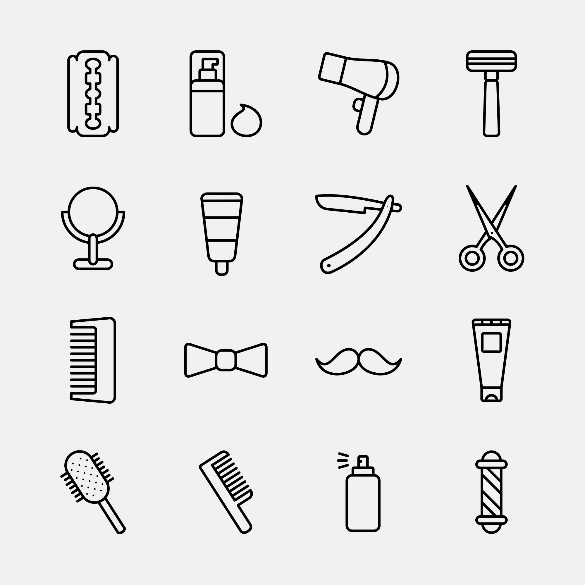 Barber Vector Icons