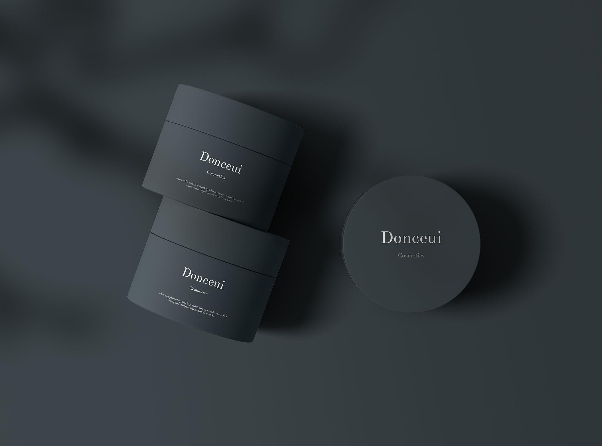 Cosmetics Jars Mockup 2